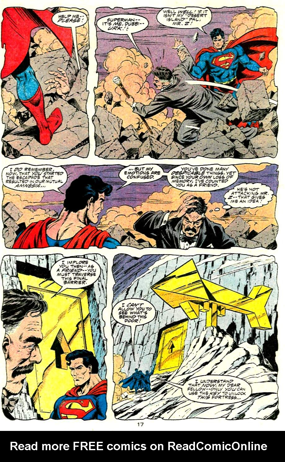 Read online Adventures of Superman (1987) comic -  Issue #485 - 18