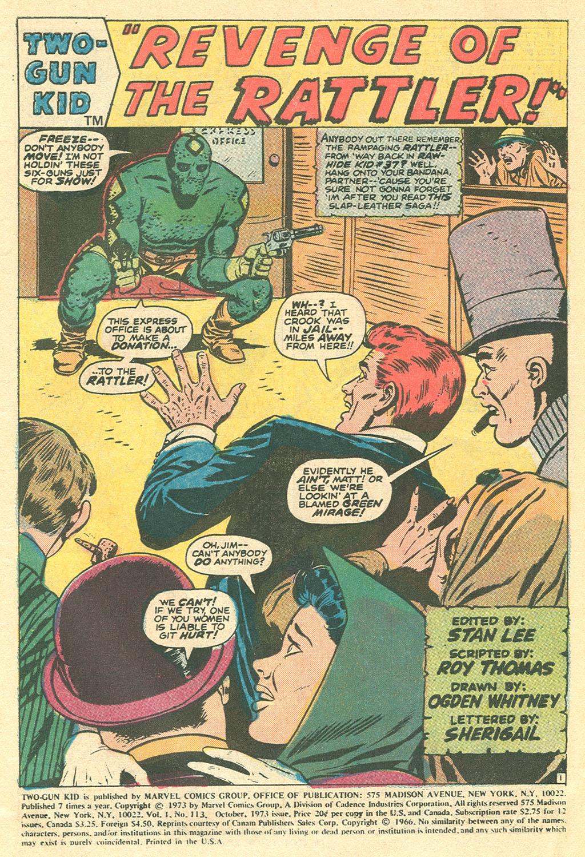 Read online Two-Gun Kid comic -  Issue #113 - 3