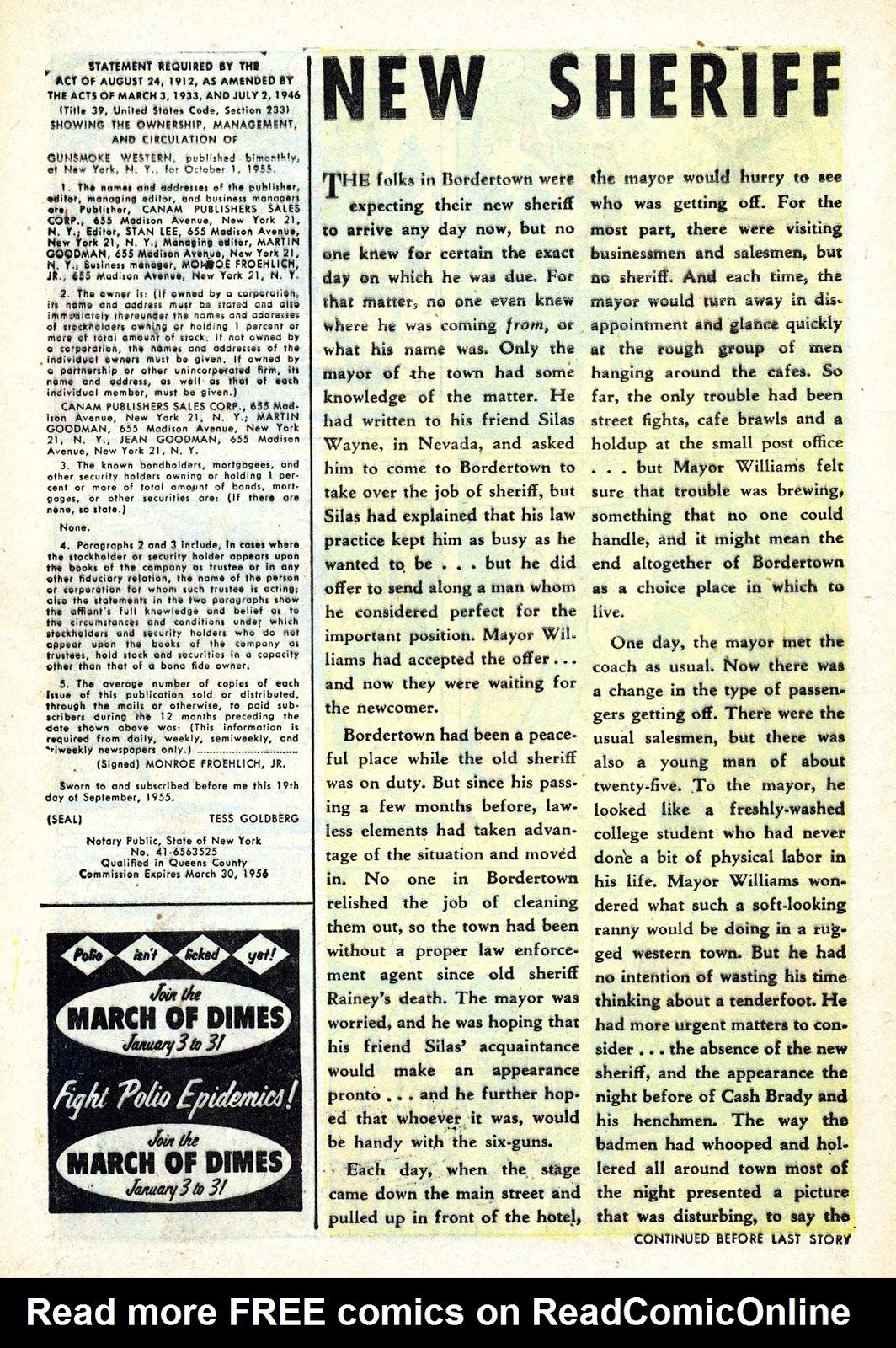 Gunsmoke Western issue 34 - Page 8