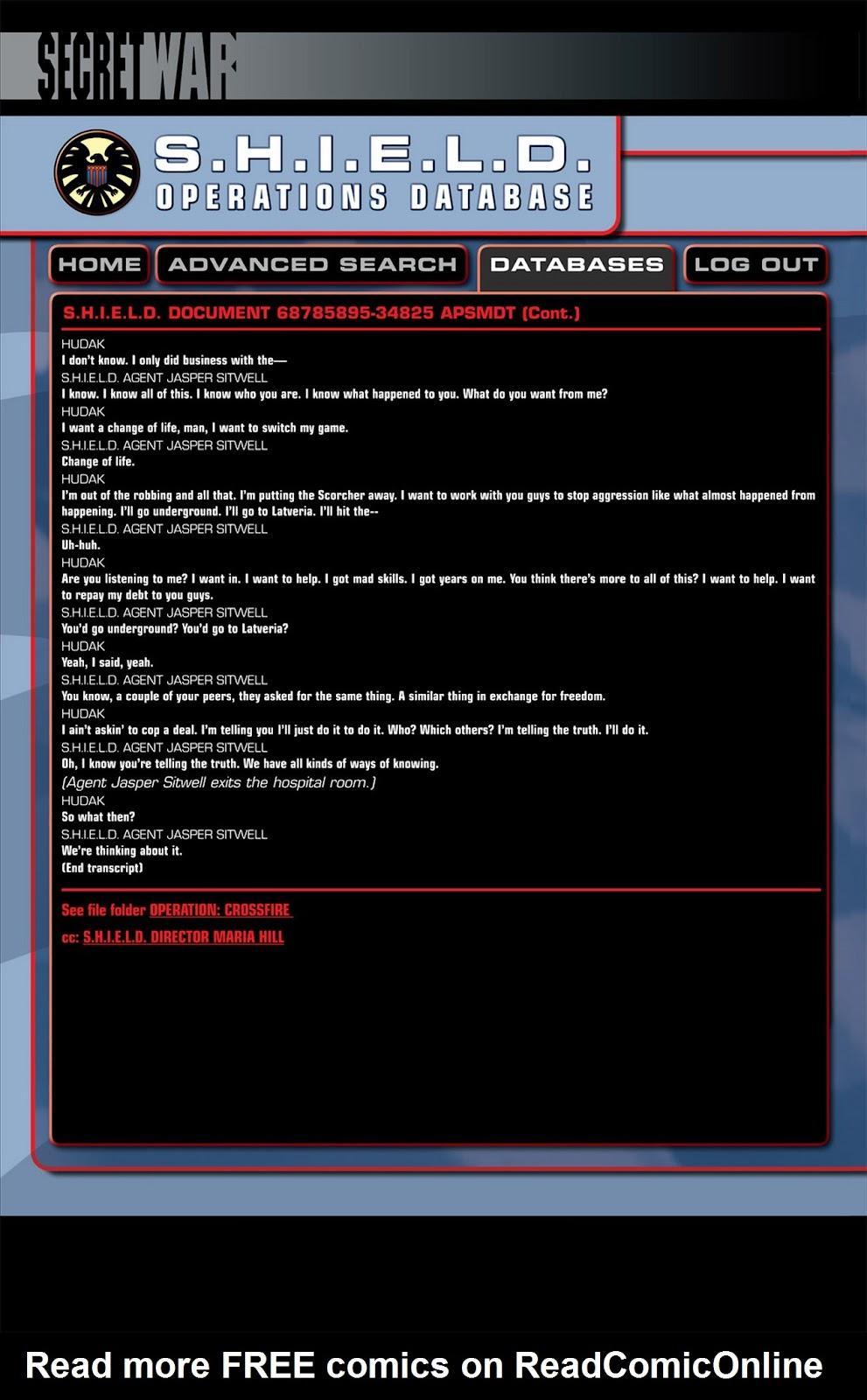 Read online Secret War comic -  Issue #5 - 32