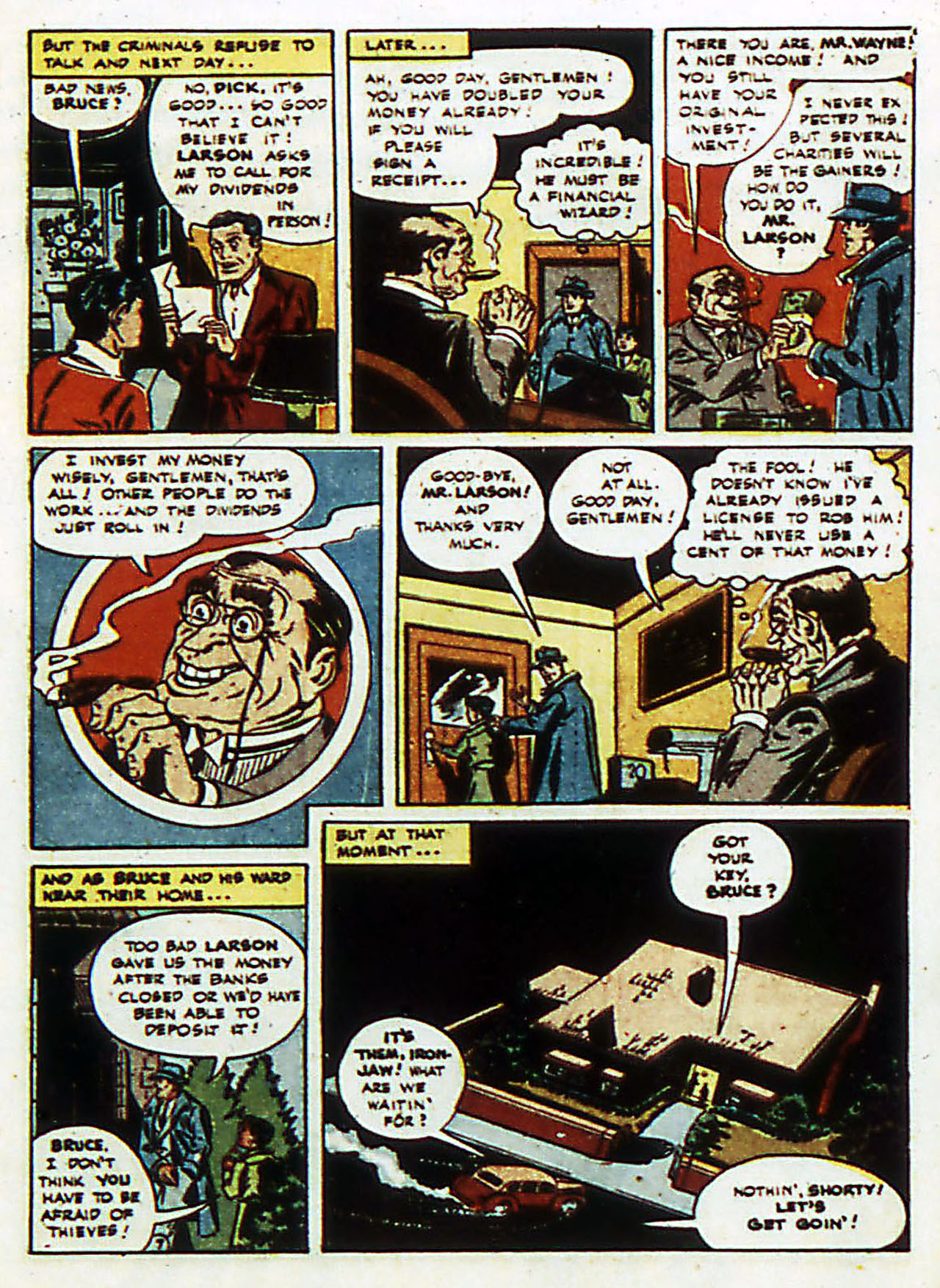 Read online Detective Comics (1937) comic -  Issue #72 - 10