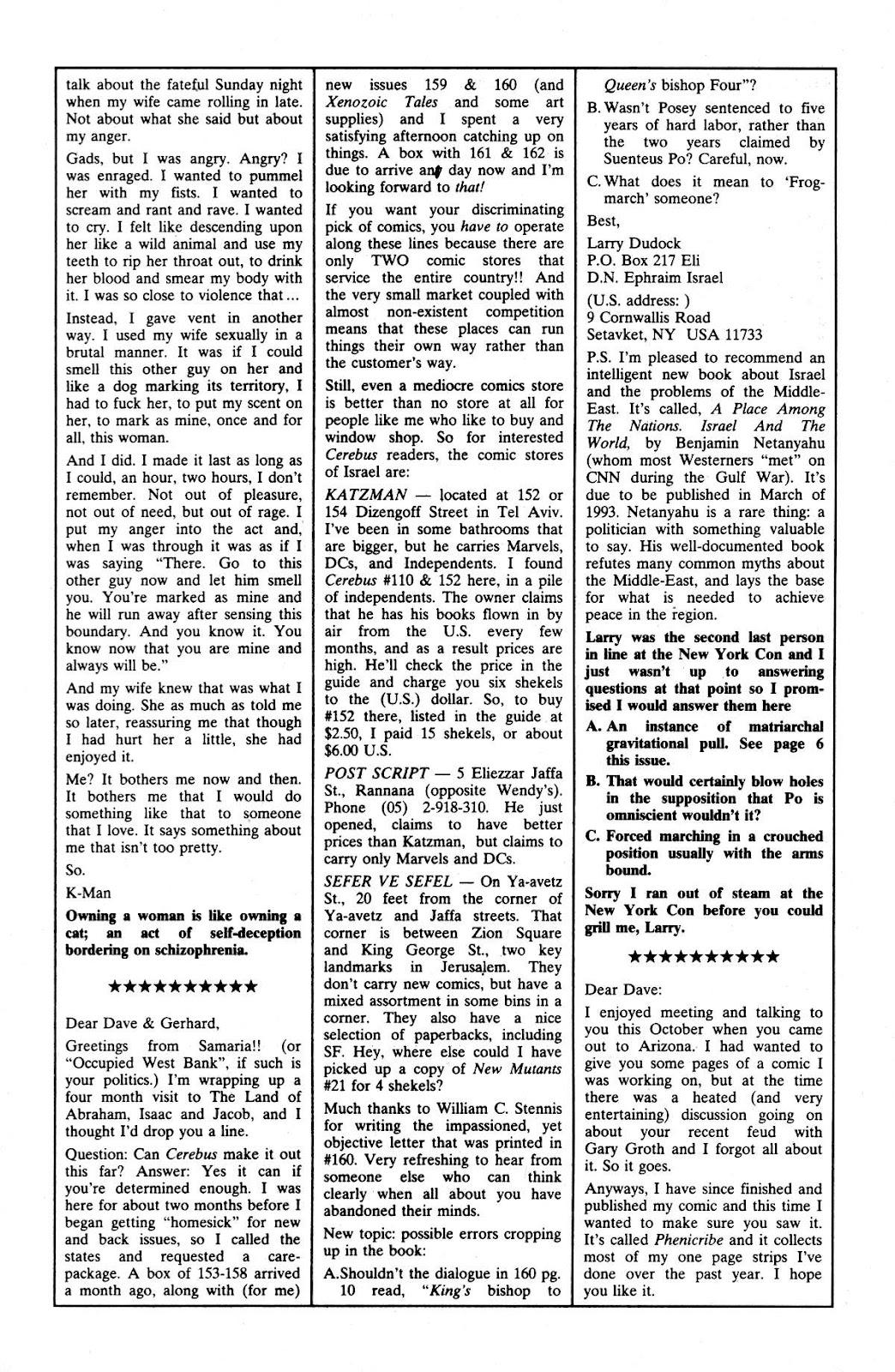 Cerebus Issue #165 #164 - English 22