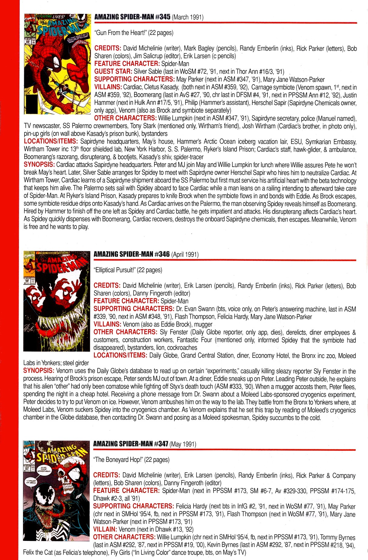 Read online Official Index to the Marvel Universe comic -  Issue #8 - 12