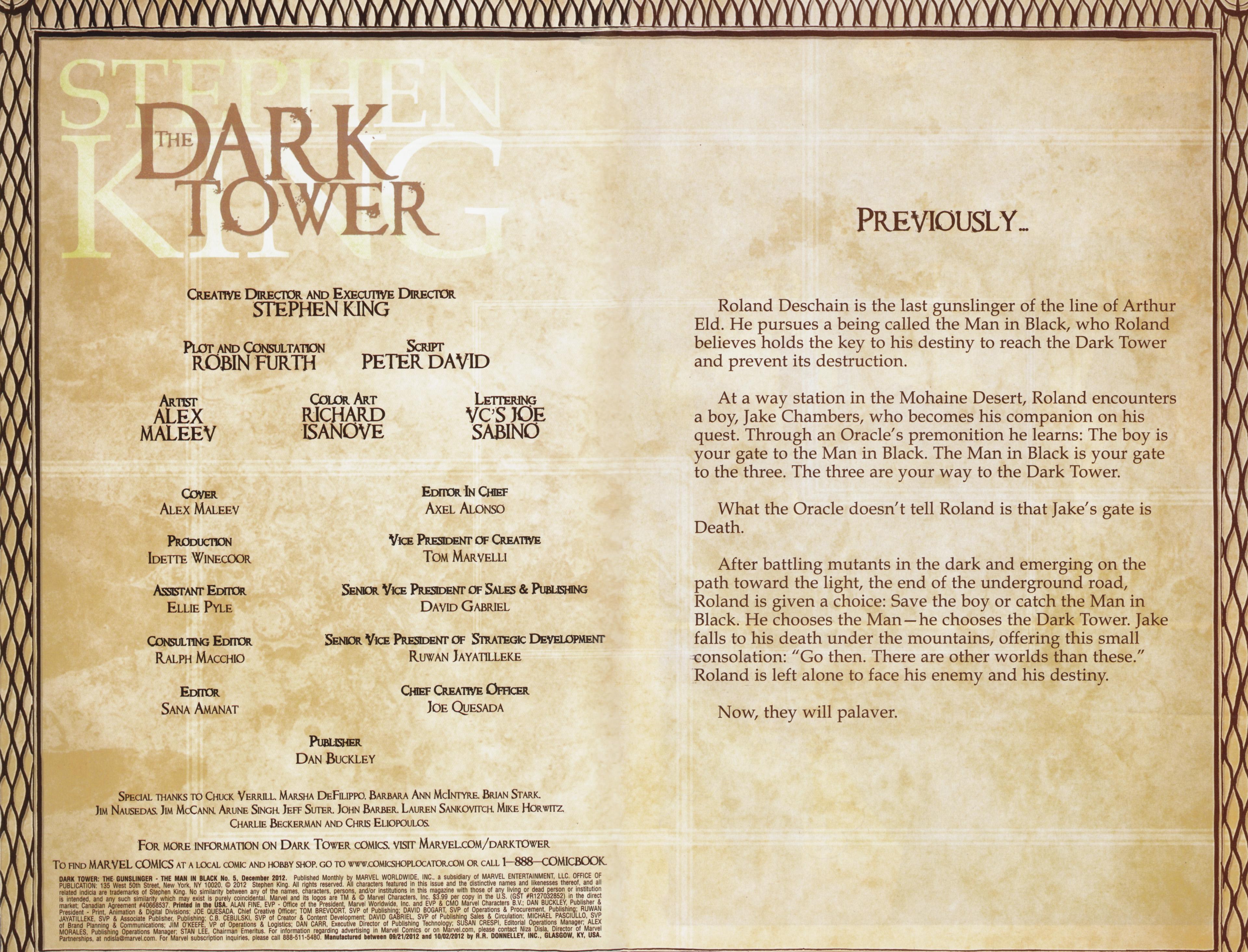 Read online Dark Tower: The Gunslinger - The Man in Black comic -  Issue #5 - 2