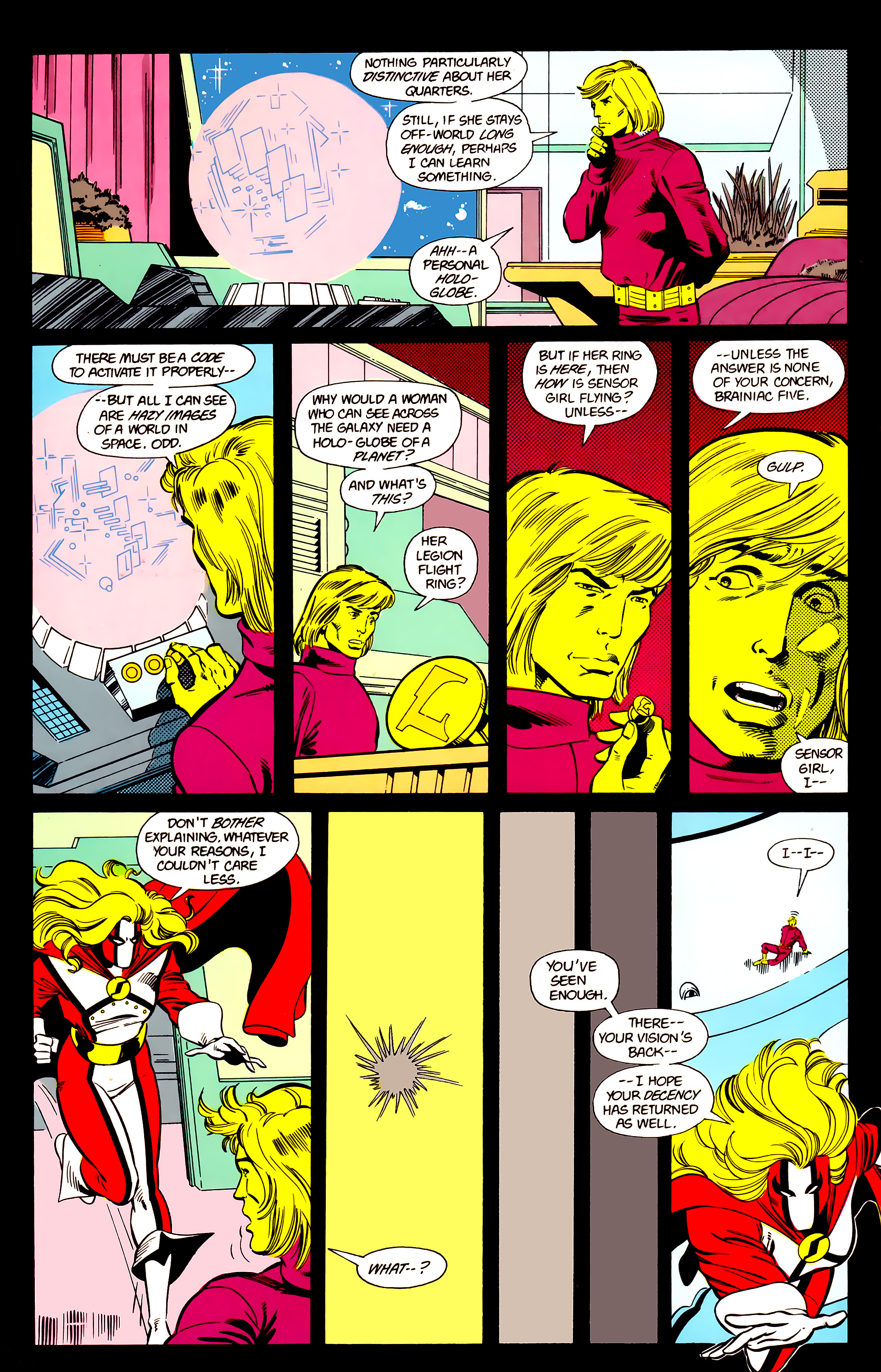 Legion of Super-Heroes (1984) 21 Page 9