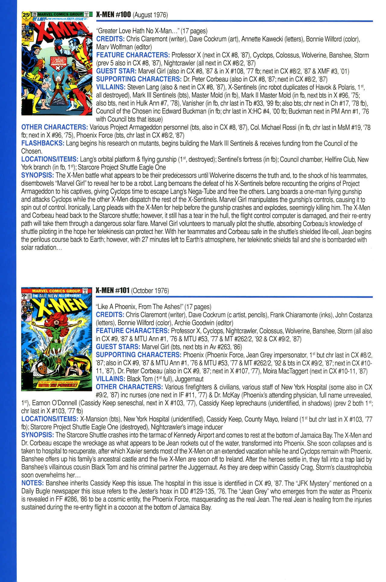 Read online Official Index to the Marvel Universe comic -  Issue #2 - 62
