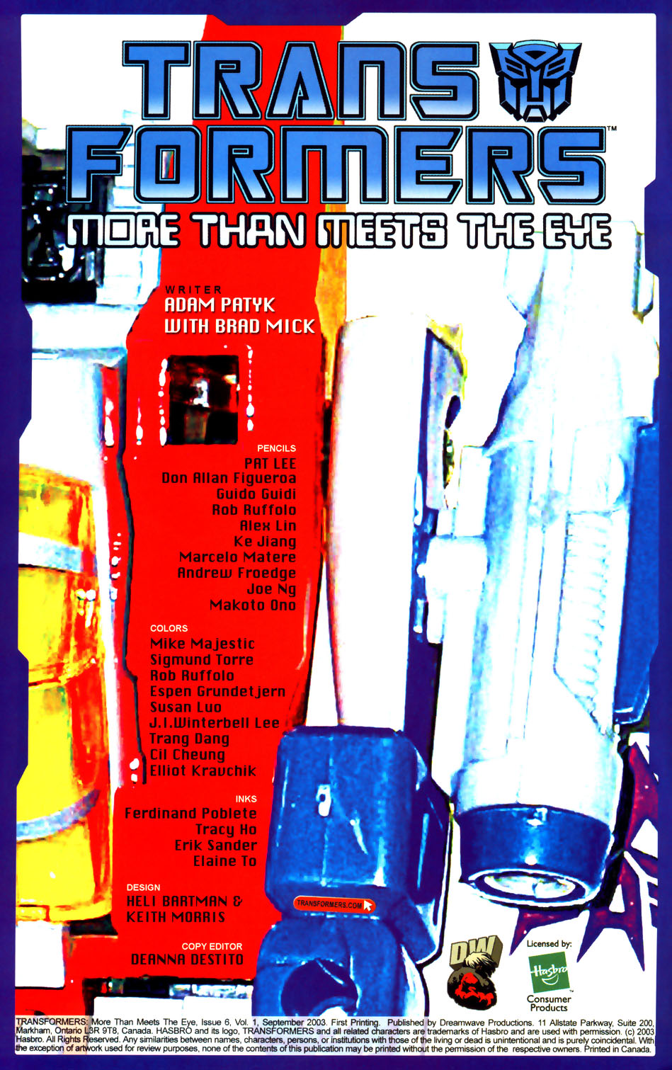 Read online Transformers: More than Meets the Eye comic -  Issue #6 - 2