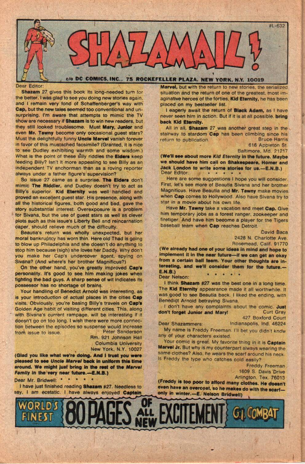 Read online Shazam! (1973) comic -  Issue #29 - 32