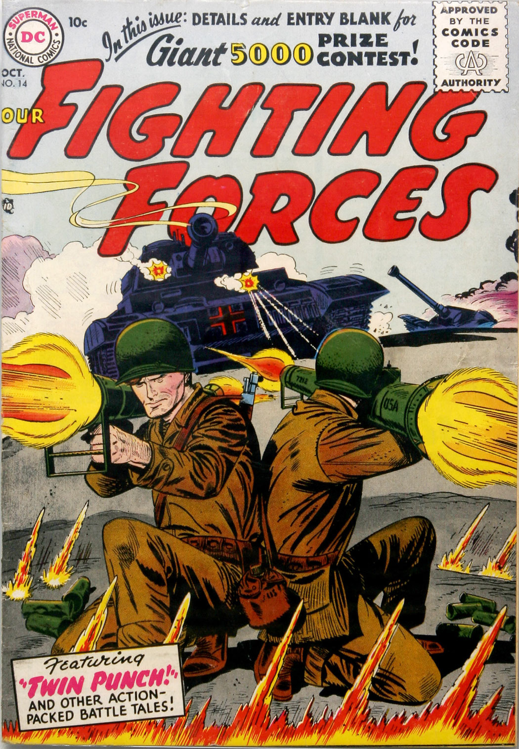 Our Fighting Forces (1954) issue 14 - Page 1