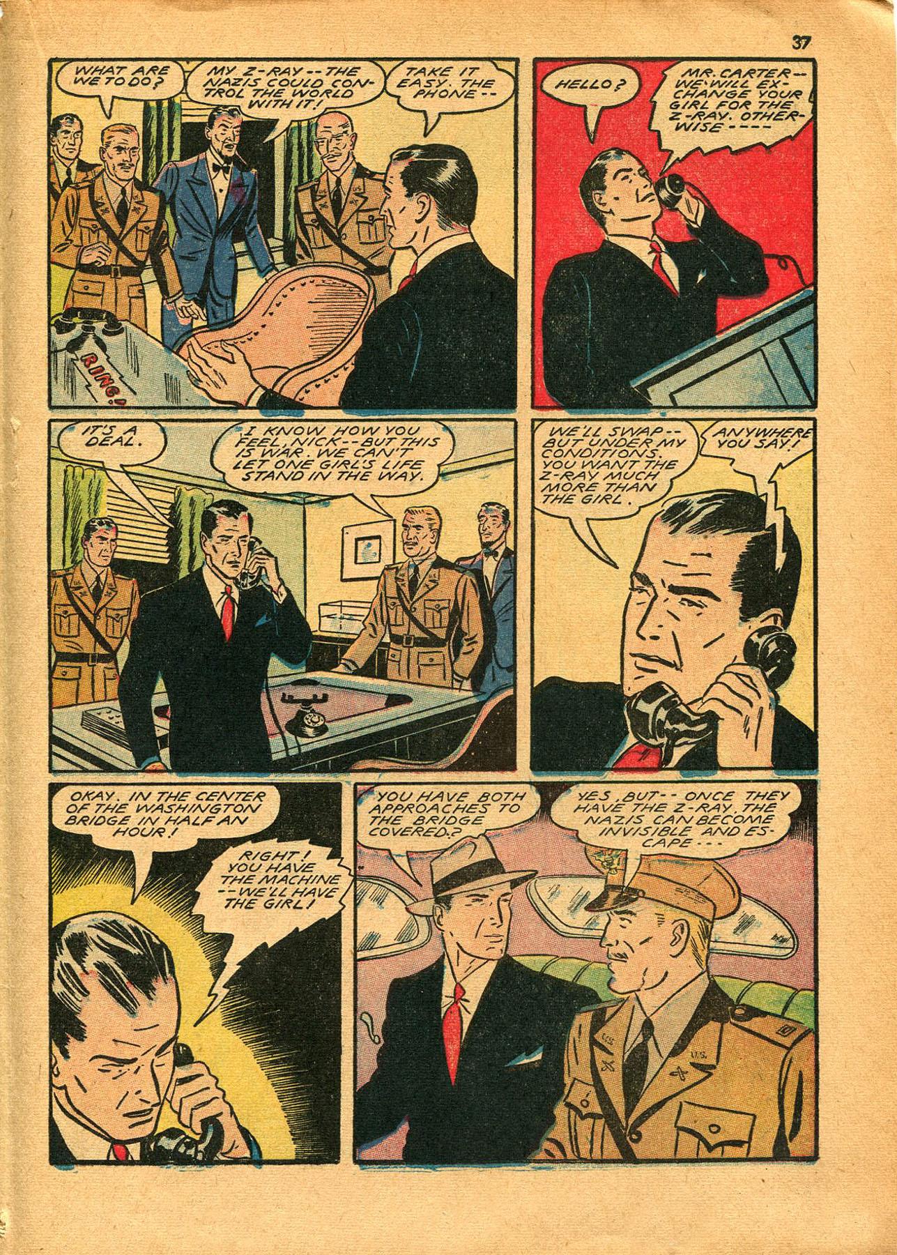 Read online Shadow Comics comic -  Issue #23 - 37