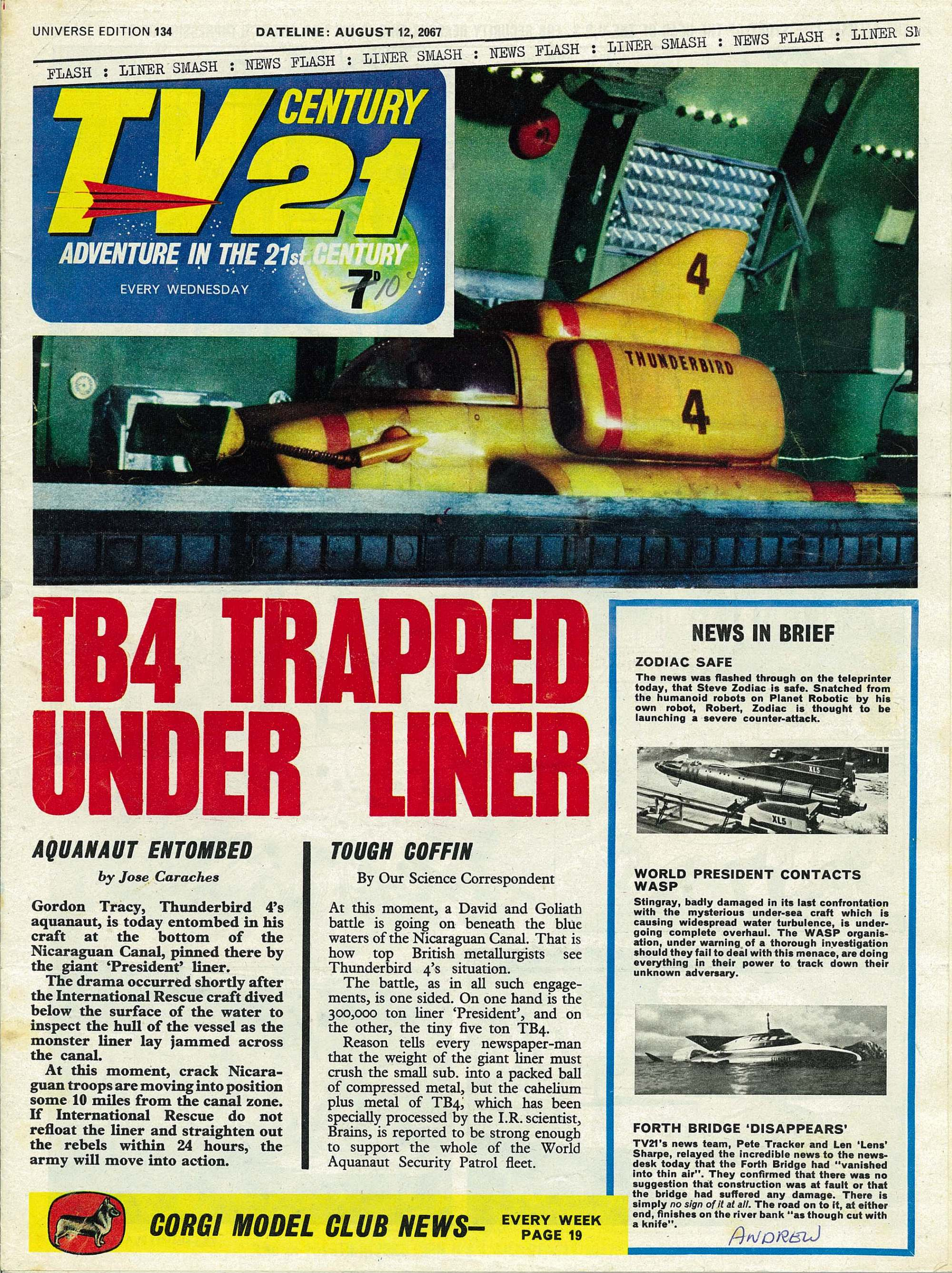 Read online TV Century 21 (TV 21) comic -  Issue #134 - 1