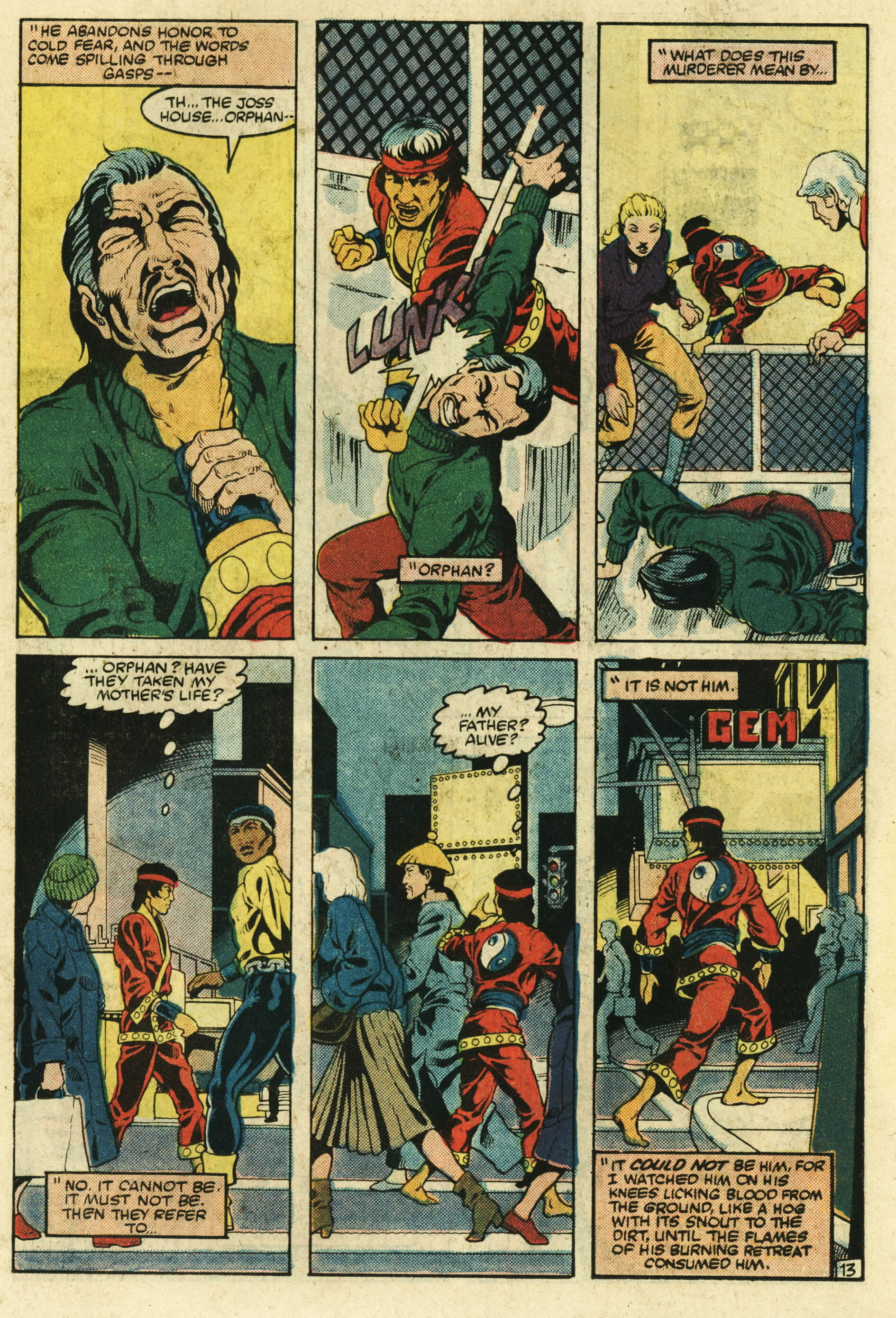Read online Master of Kung Fu (1974) comic -  Issue #123 - 14