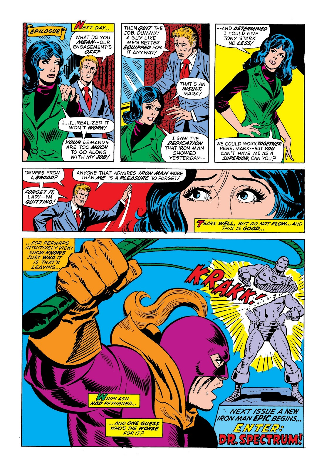 Read online Marvel Masterworks: The Invincible Iron Man comic -  Issue # TPB 9 (Part 2) - 93
