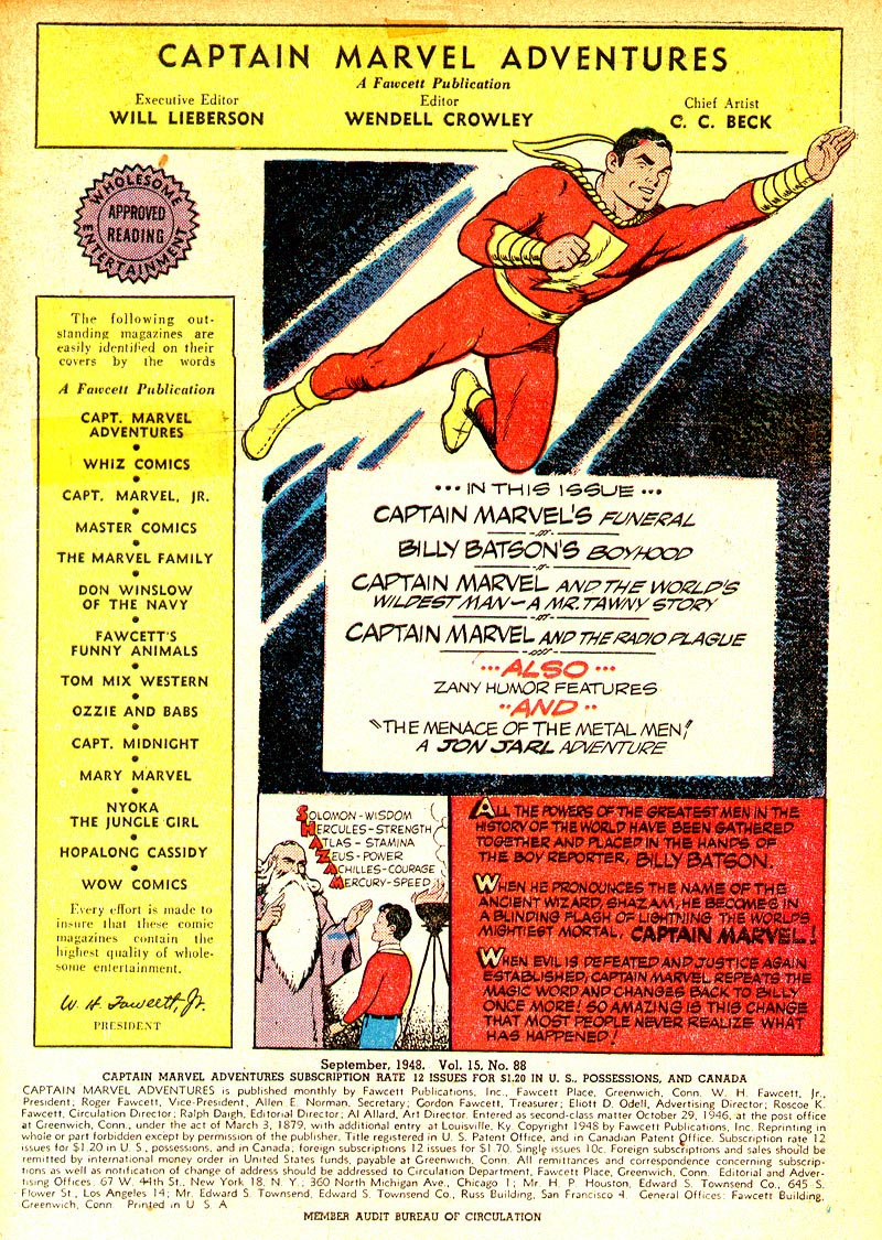 Captain Marvel Adventures issue 88 - Page 3