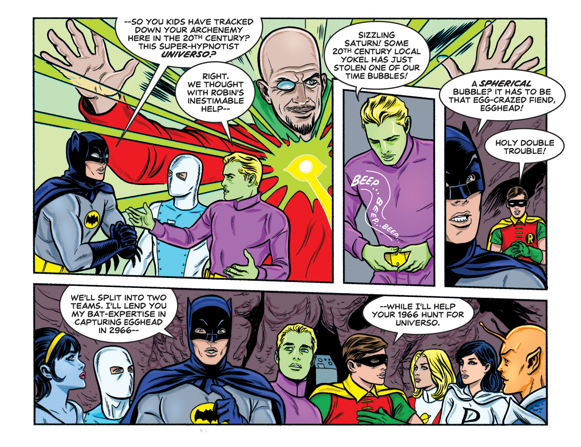 Read online Batman '66 Meets the Legion of Super-Heroes comic -  Issue #1 - 9