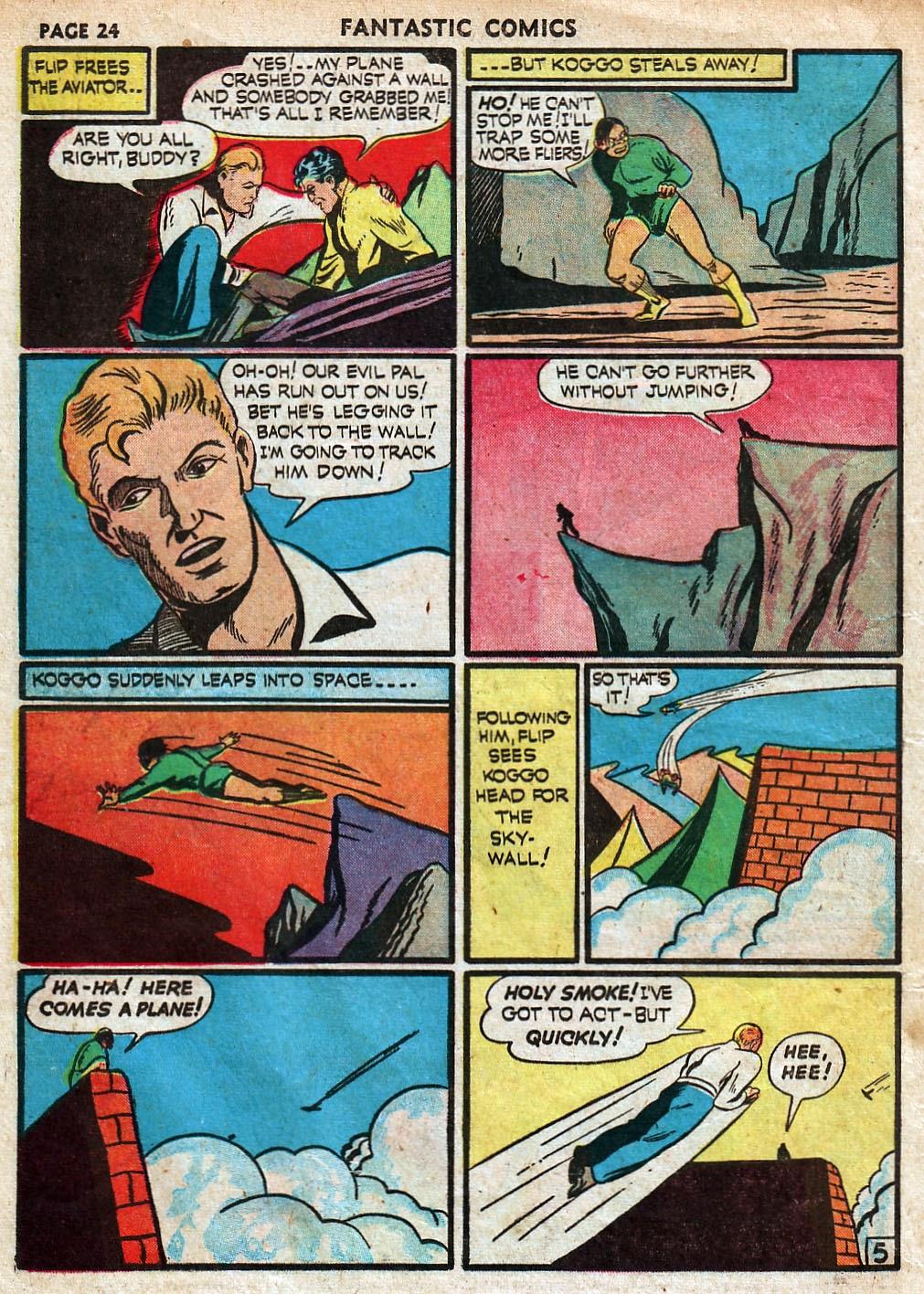 Read online Fantastic Comics comic -  Issue #18 - 26