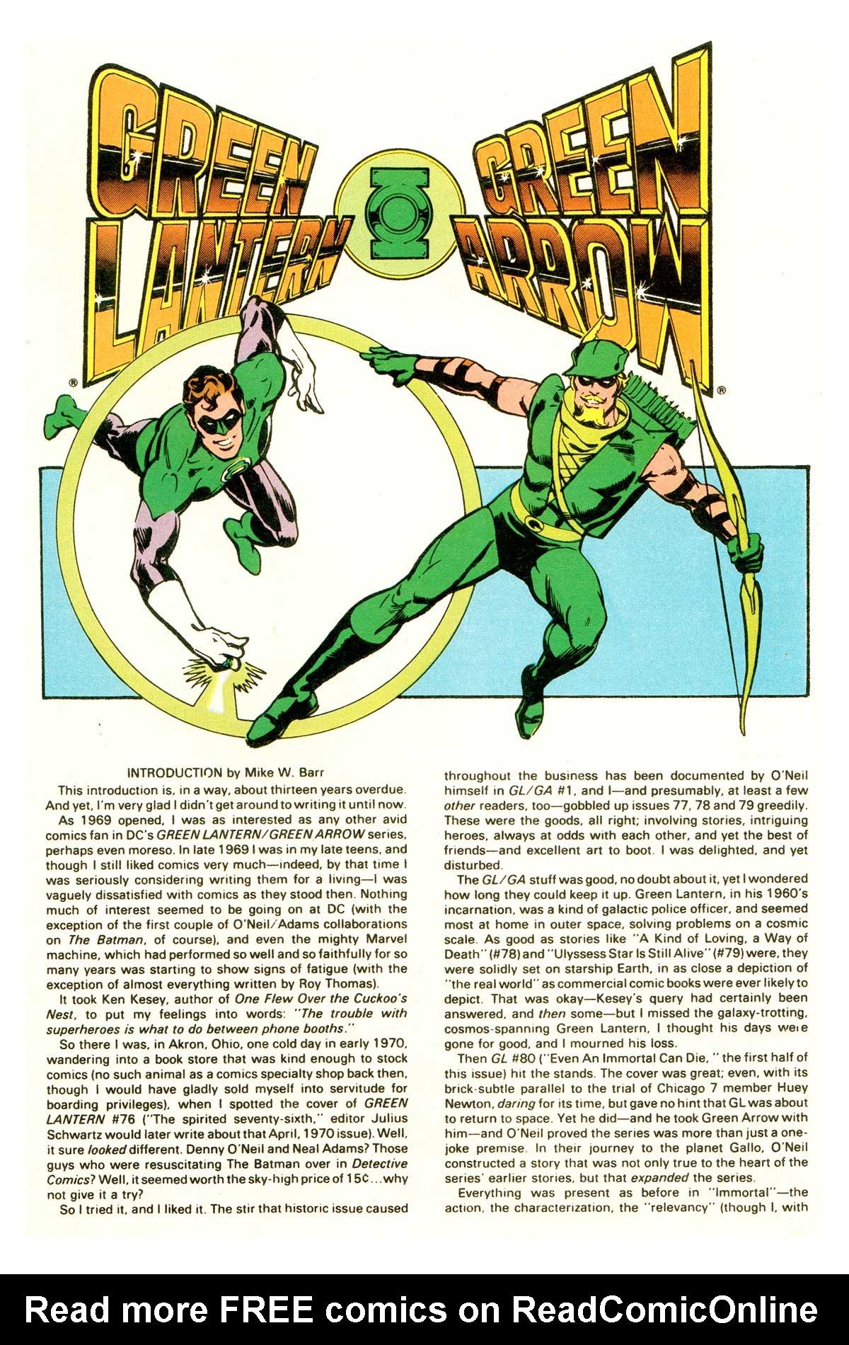 Green Lantern/Green Arrow 3 Page 1