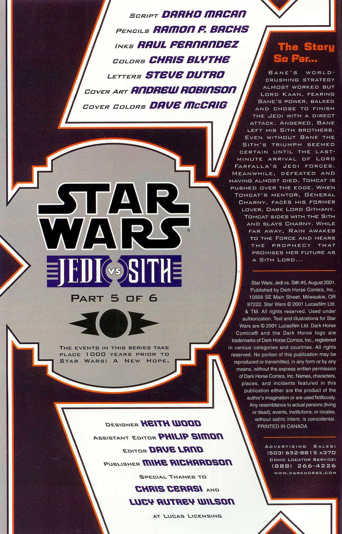 Star Wars: Jedi vs. Sith 5 Page 2