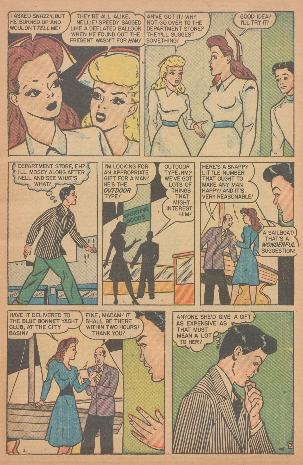 Read online Nellie The Nurse (1945) comic -  Issue #18 - 5