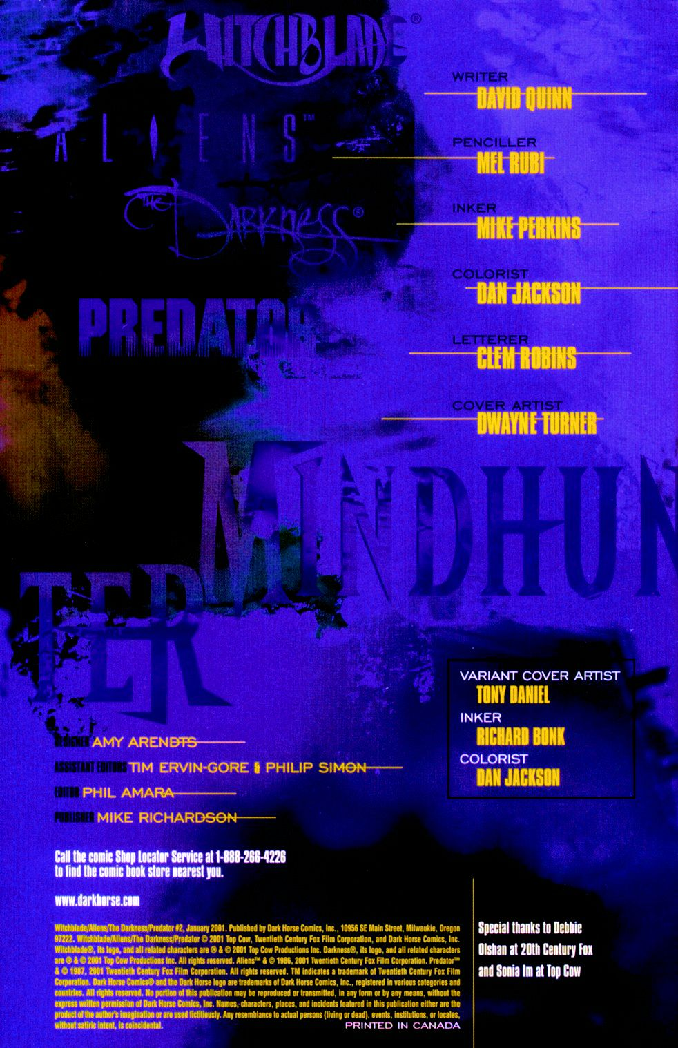 Witchblade/Aliens/The Darkness/Predator: Mindhunter 2 Page 2