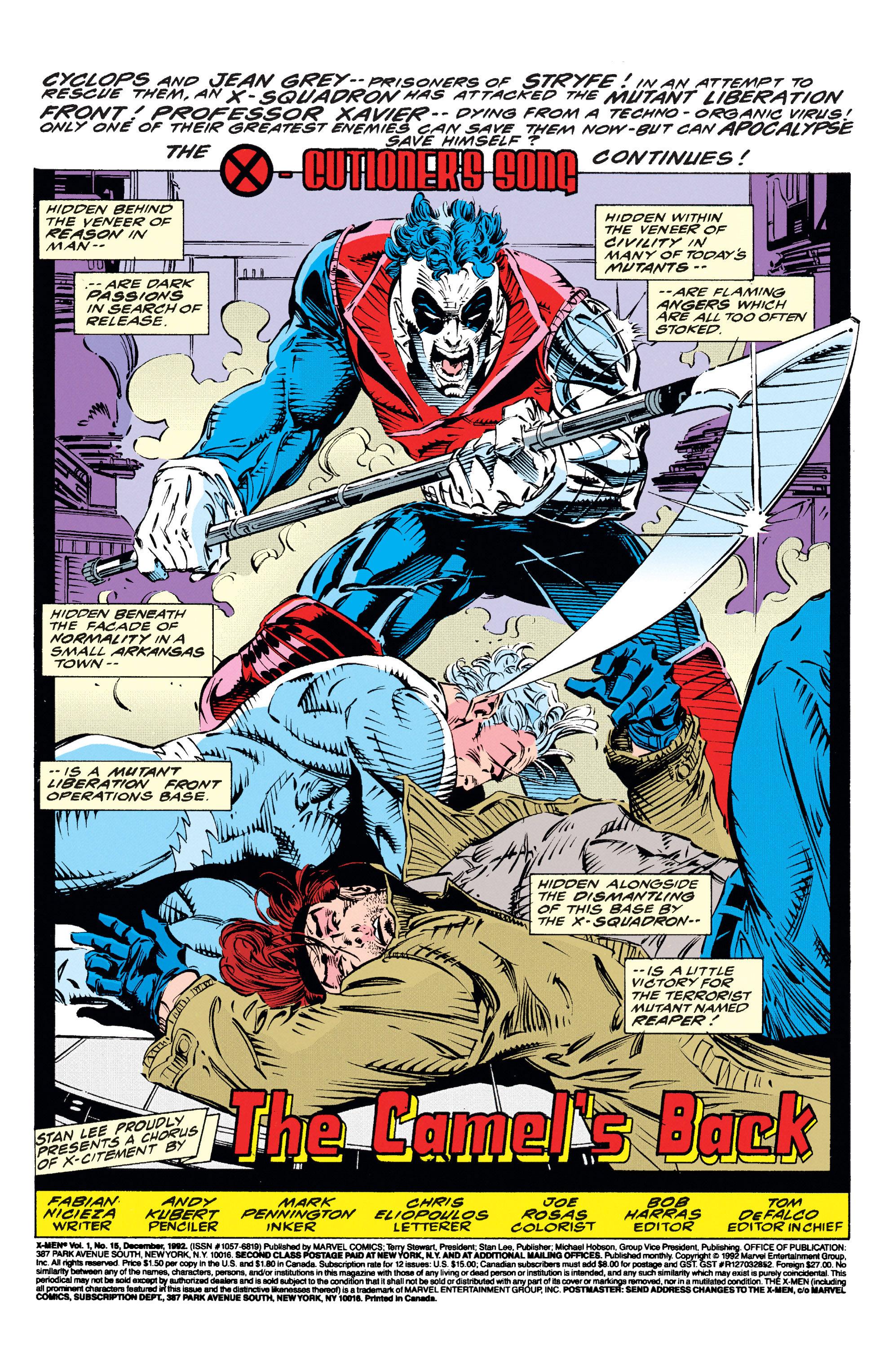 X-Men (1991) 15 Page 1