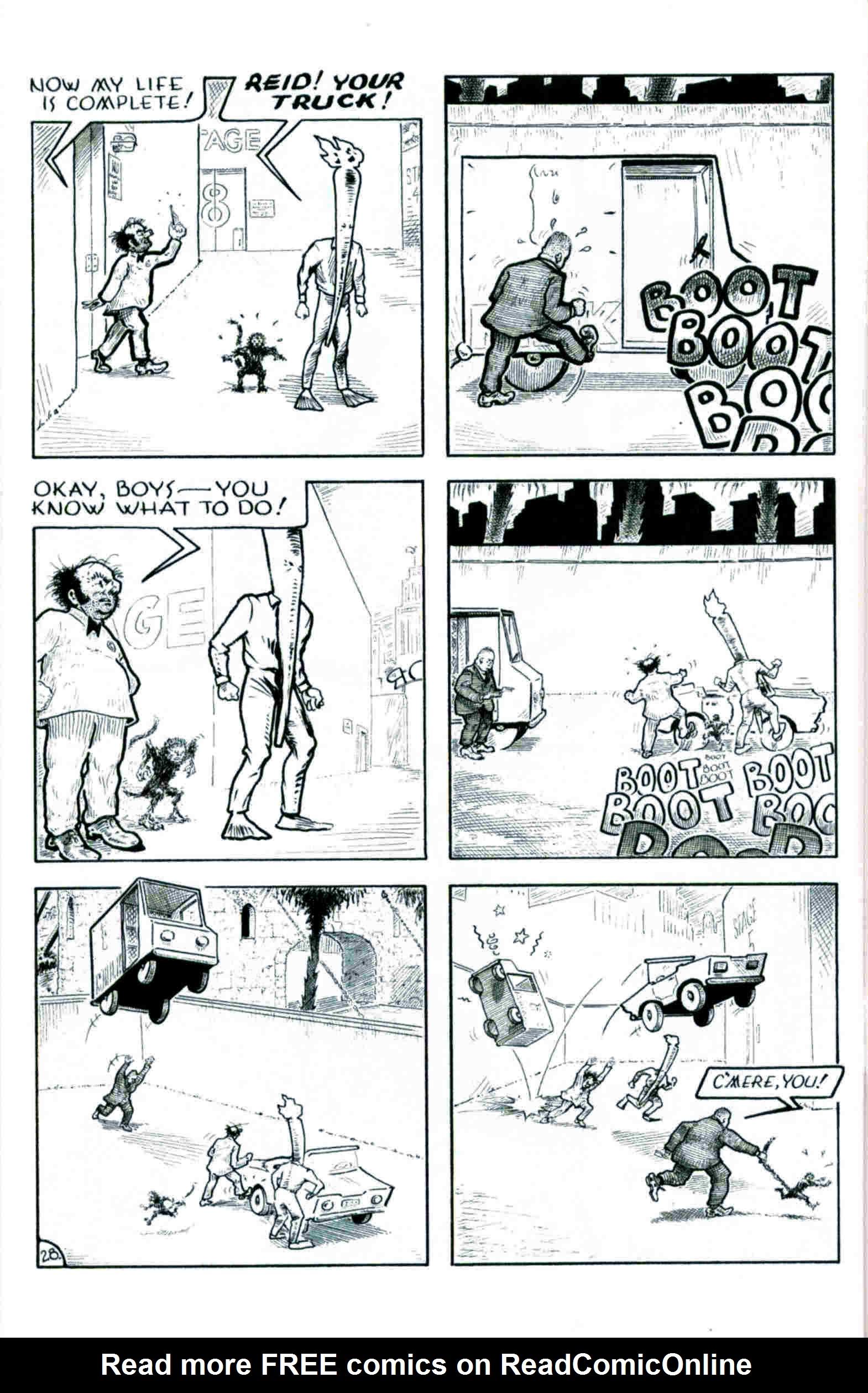 Read online Flaming Carrot & Reid Fleming, World's Toughest Milkman comic -  Issue # Full - 28