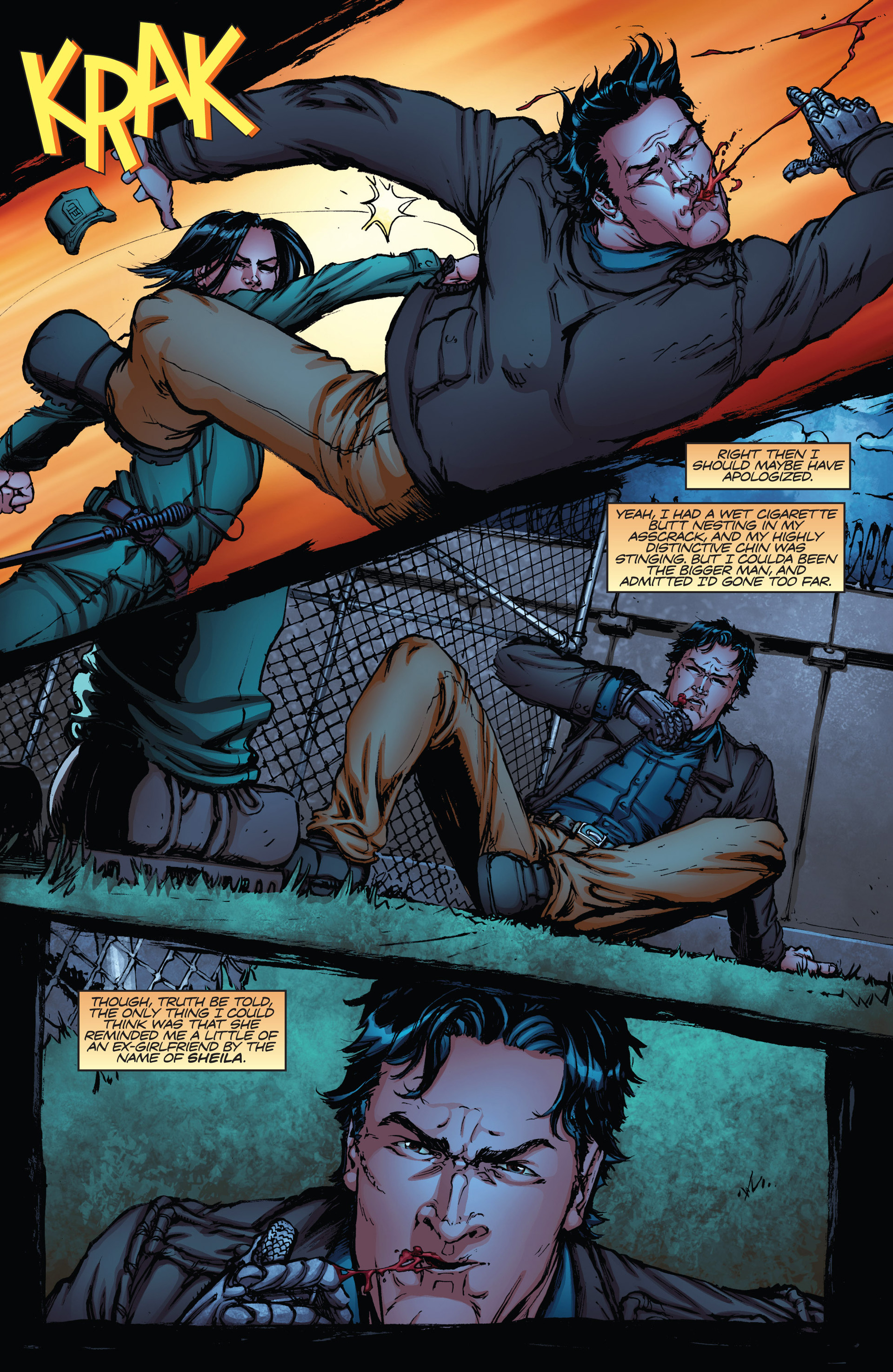Read online Army of Darkness vs. Hack/Slash comic -  Issue #2 - 12