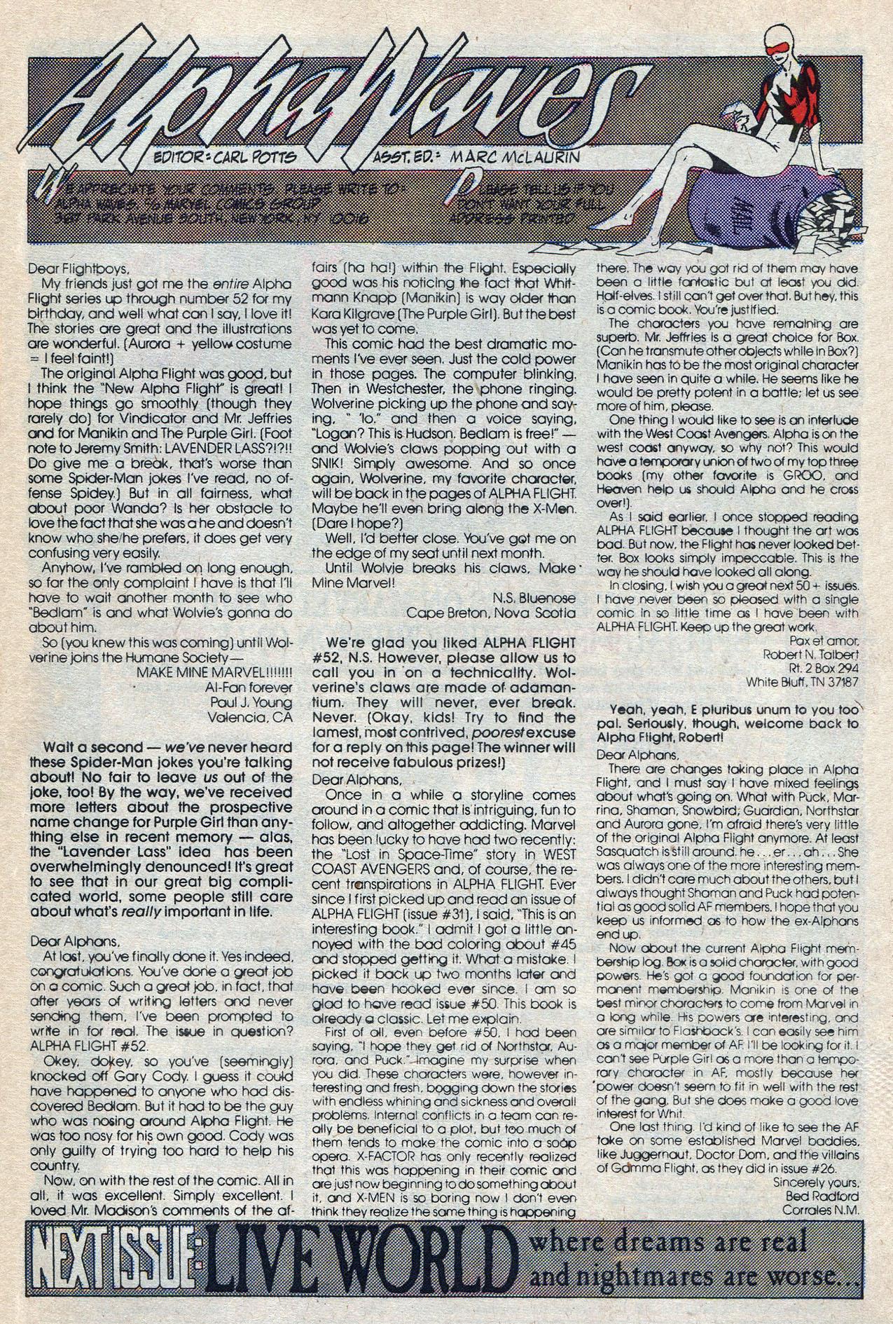 Read online Alpha Flight (1983) comic -  Issue #57 - 32