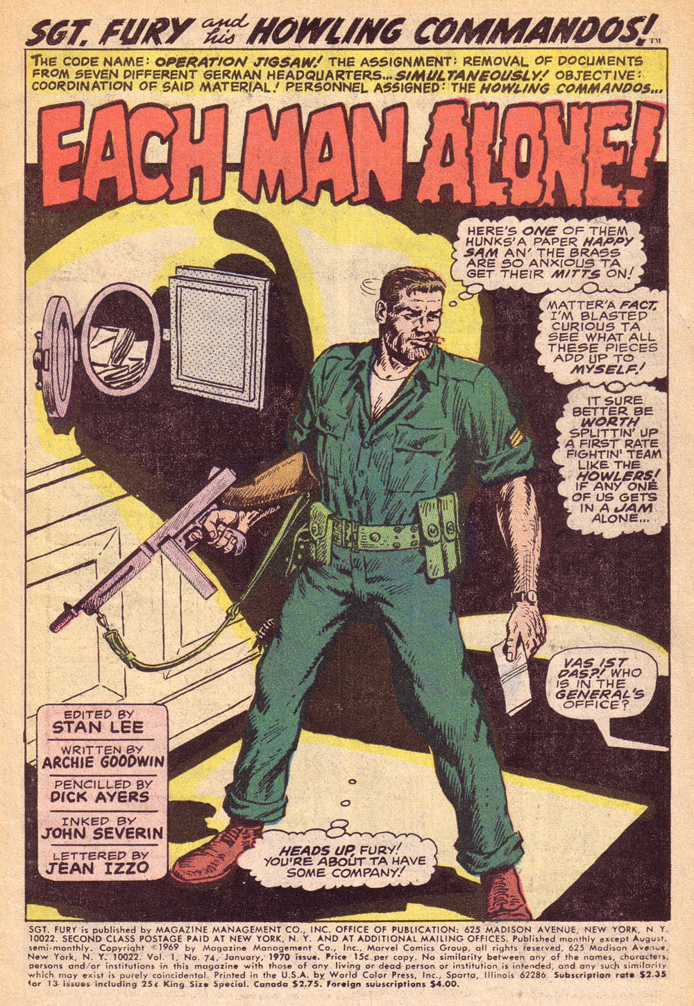 Read online Sgt. Fury comic -  Issue #74 - 3