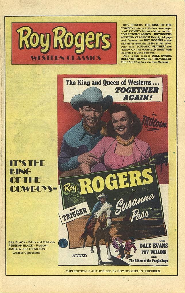 Read online Roy Rogers comic -  Issue #1 - 3
