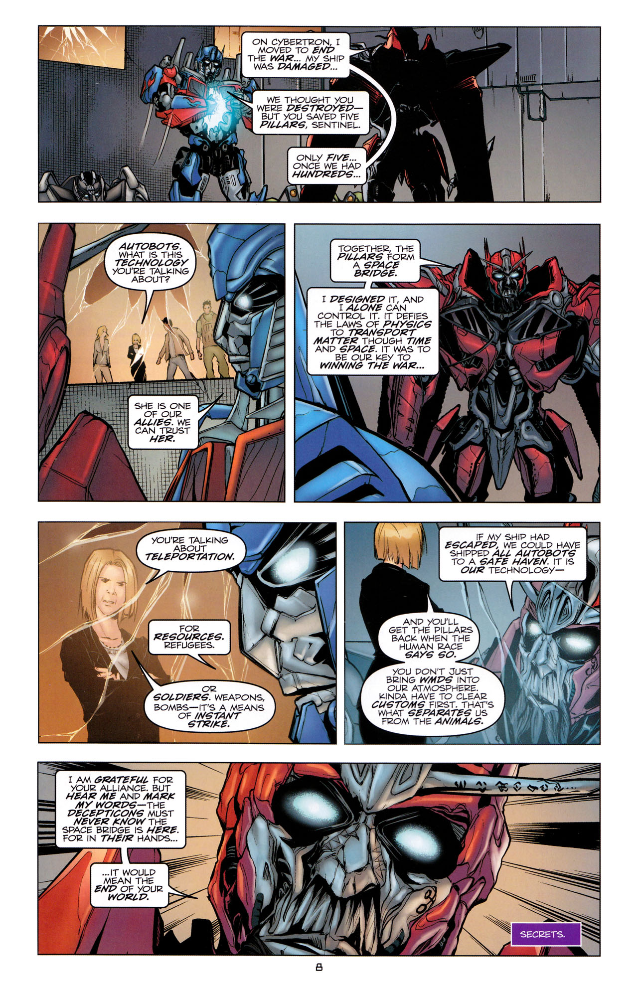 Read online Transformers: Dark of the Moon Movie Adaptation comic -  Issue #2 - 10