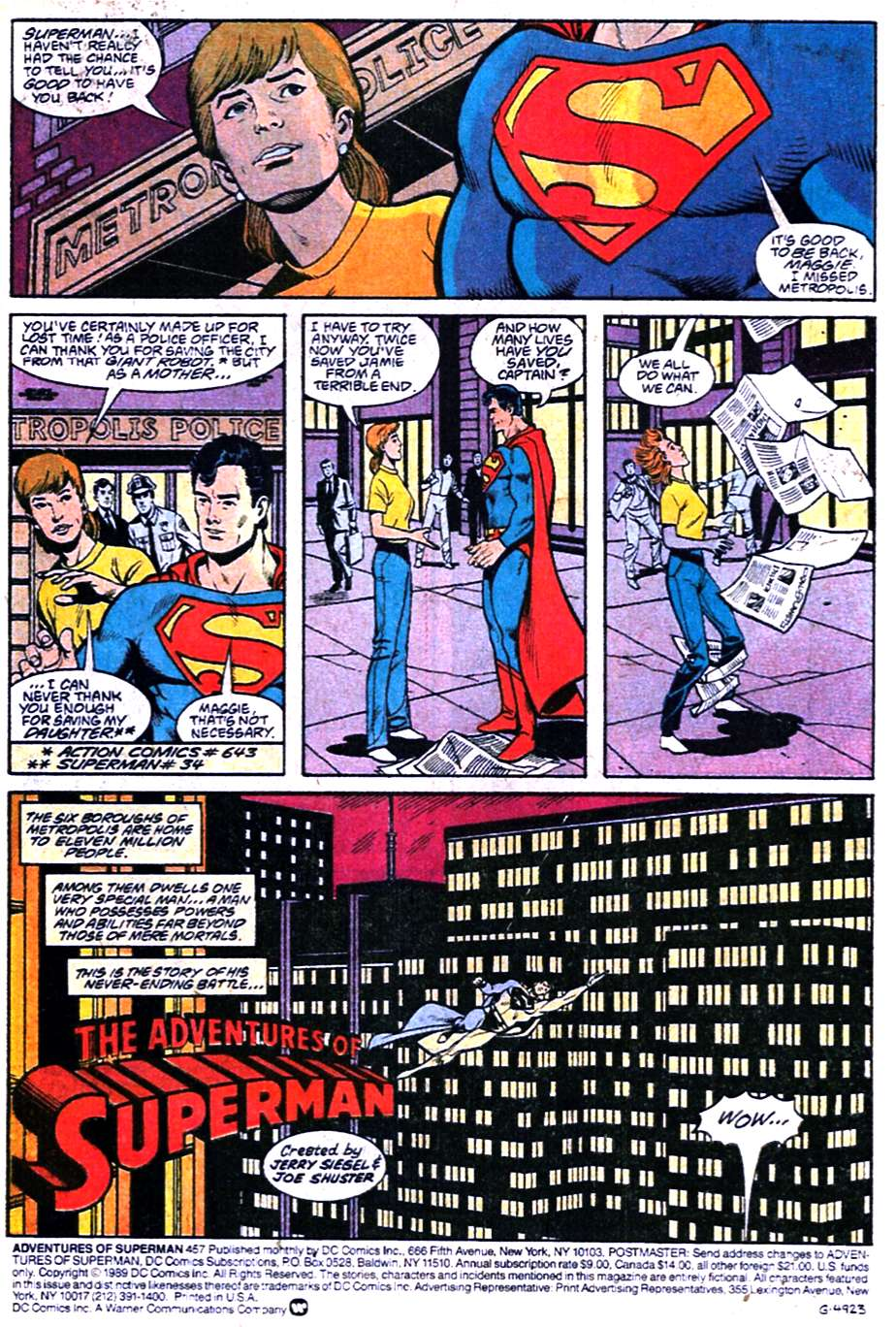 Read online Adventures of Superman (1987) comic -  Issue #457 - 2