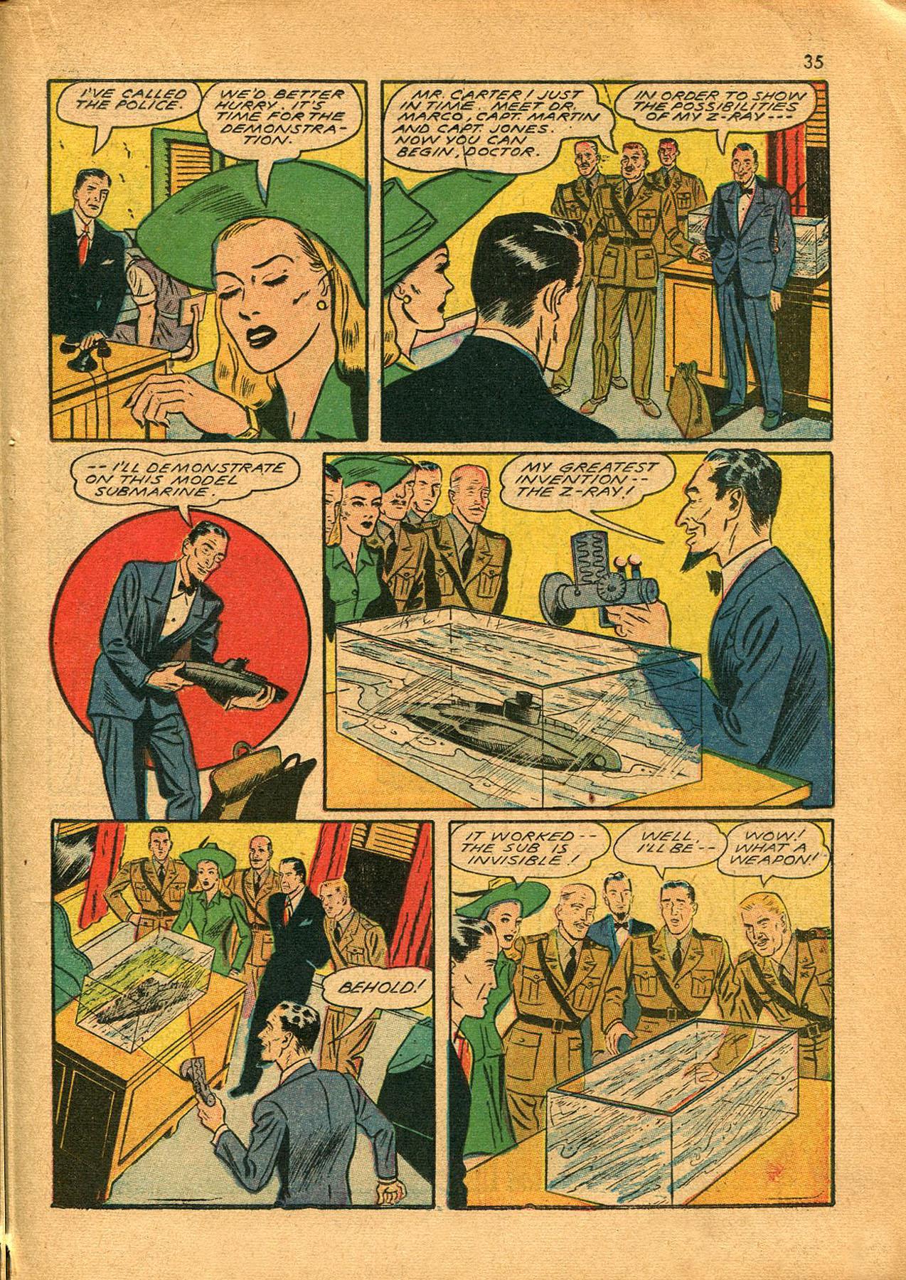 Read online Shadow Comics comic -  Issue #23 - 35