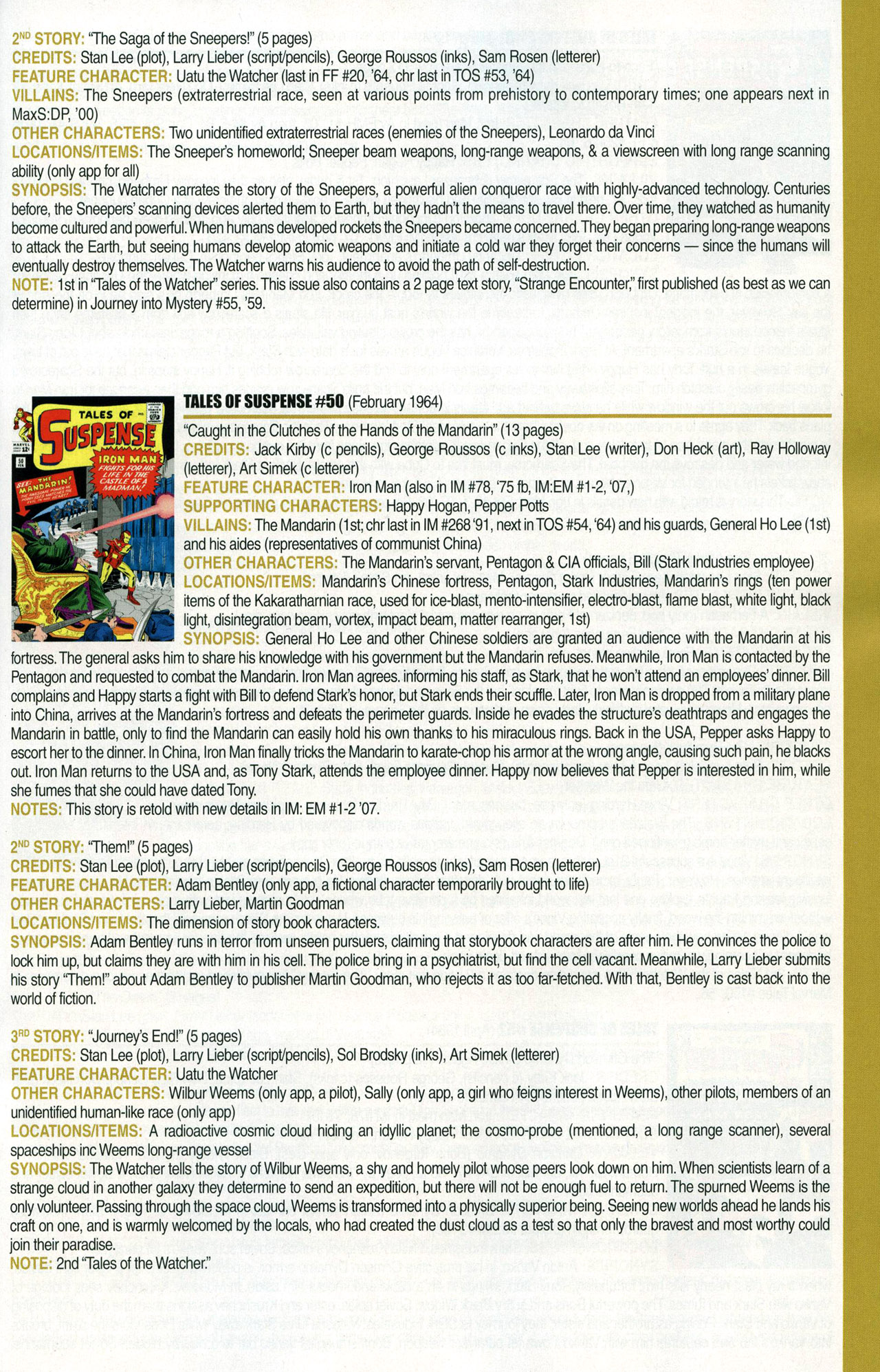 Read online Official Index to the Marvel Universe comic -  Issue #1 - 31
