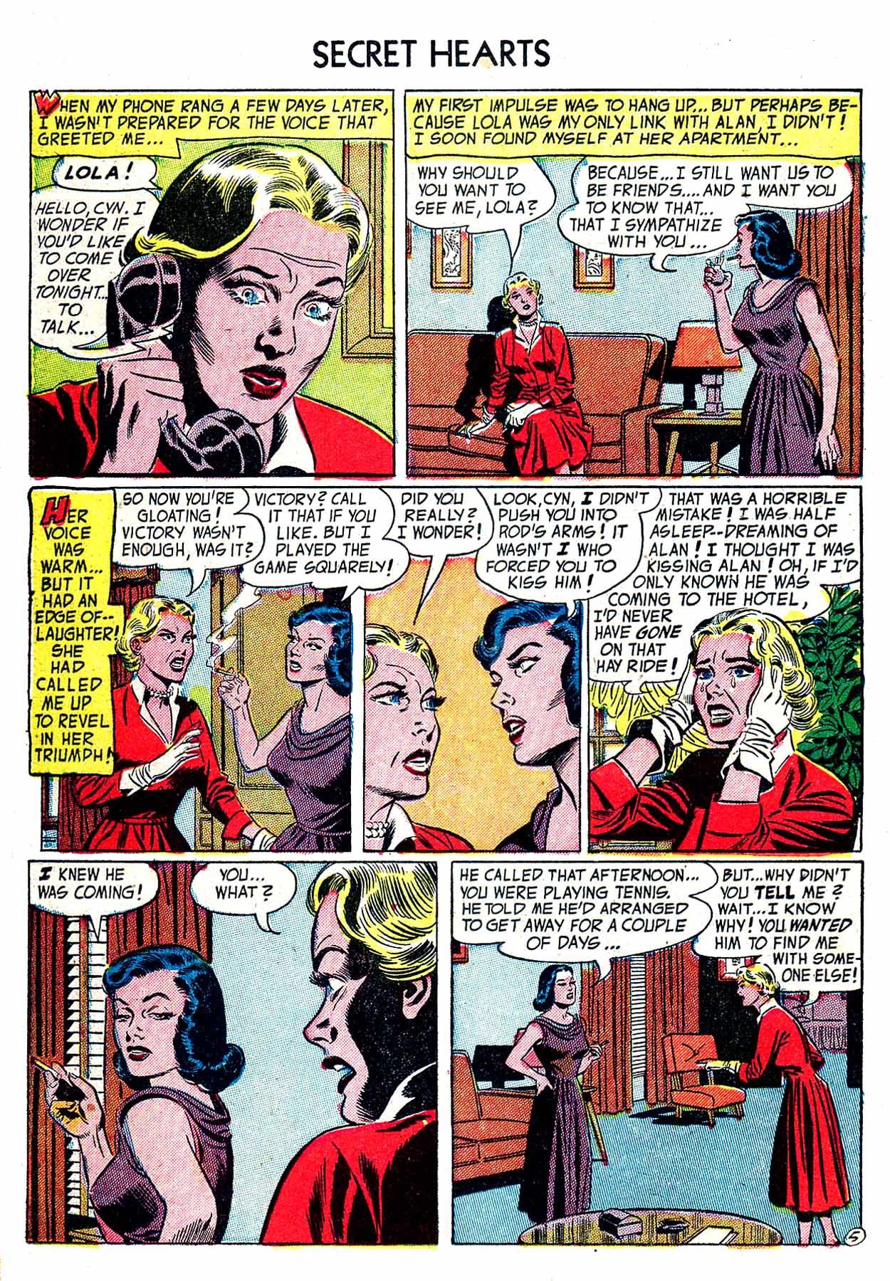 Read online Secret Hearts comic -  Issue #19 - 22