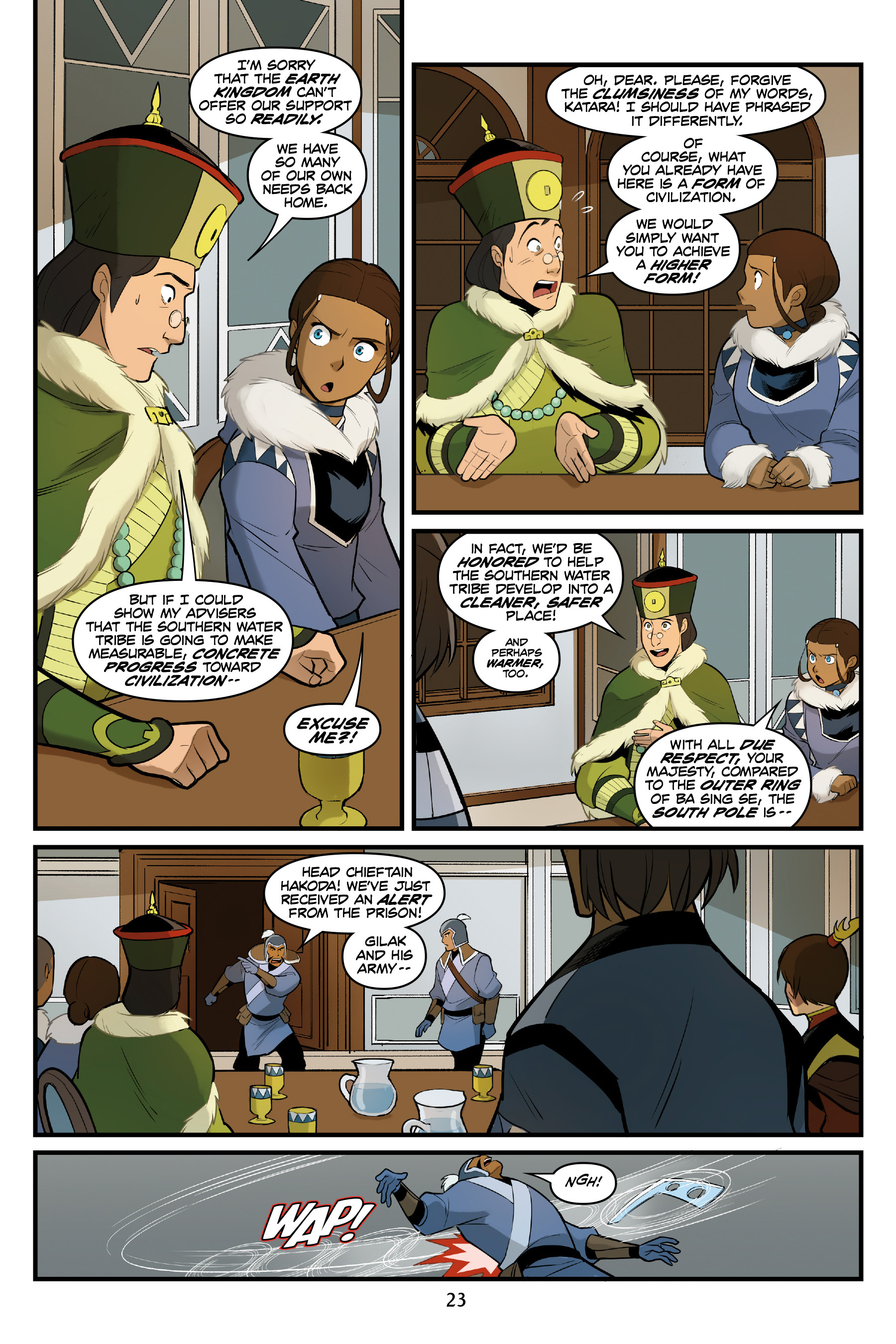 Read online Nickelodeon Avatar: The Last Airbender - North and South comic -  Issue #3 - 24