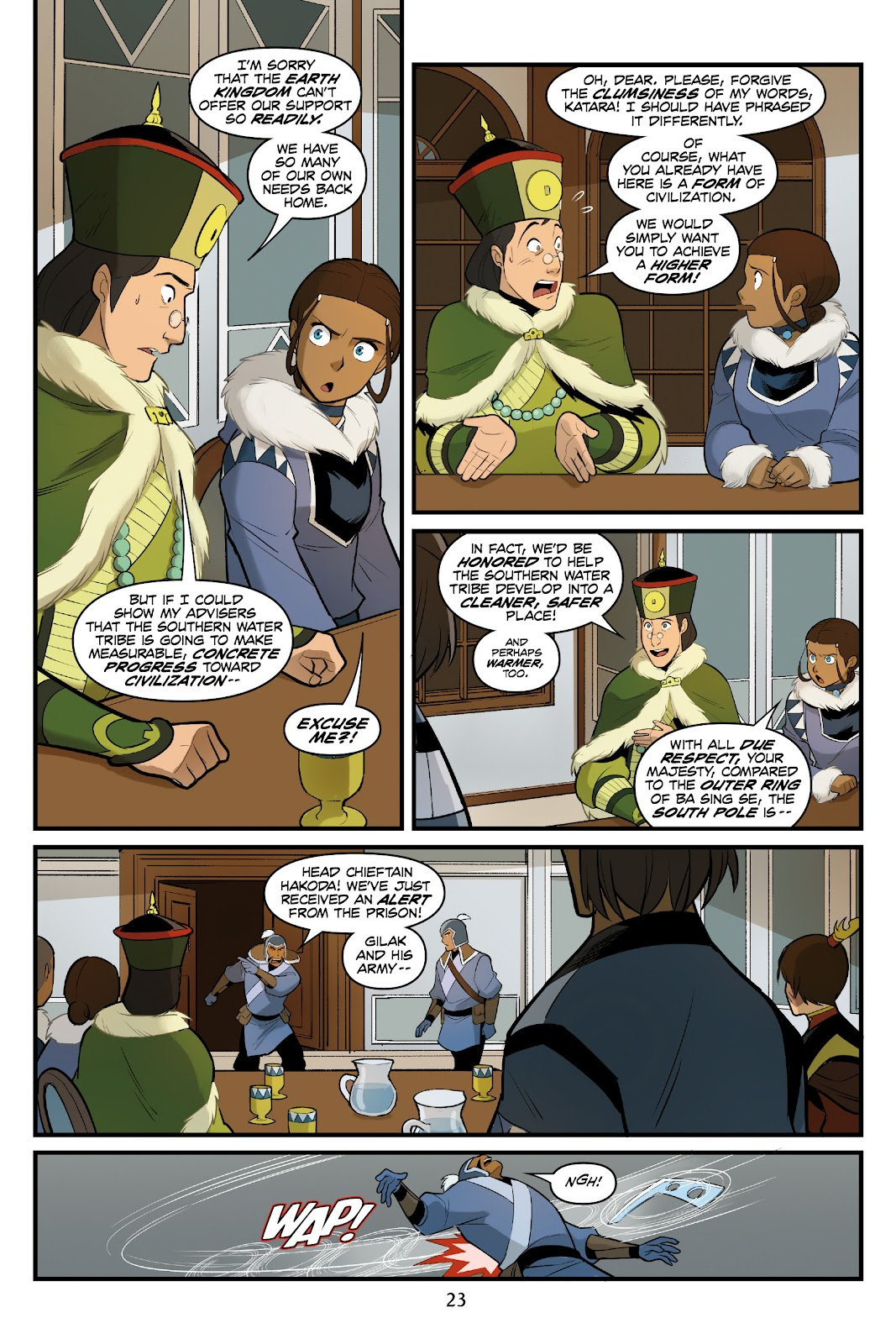Nickelodeon Avatar: The Last Airbender - North and South issue 3 - Page 24