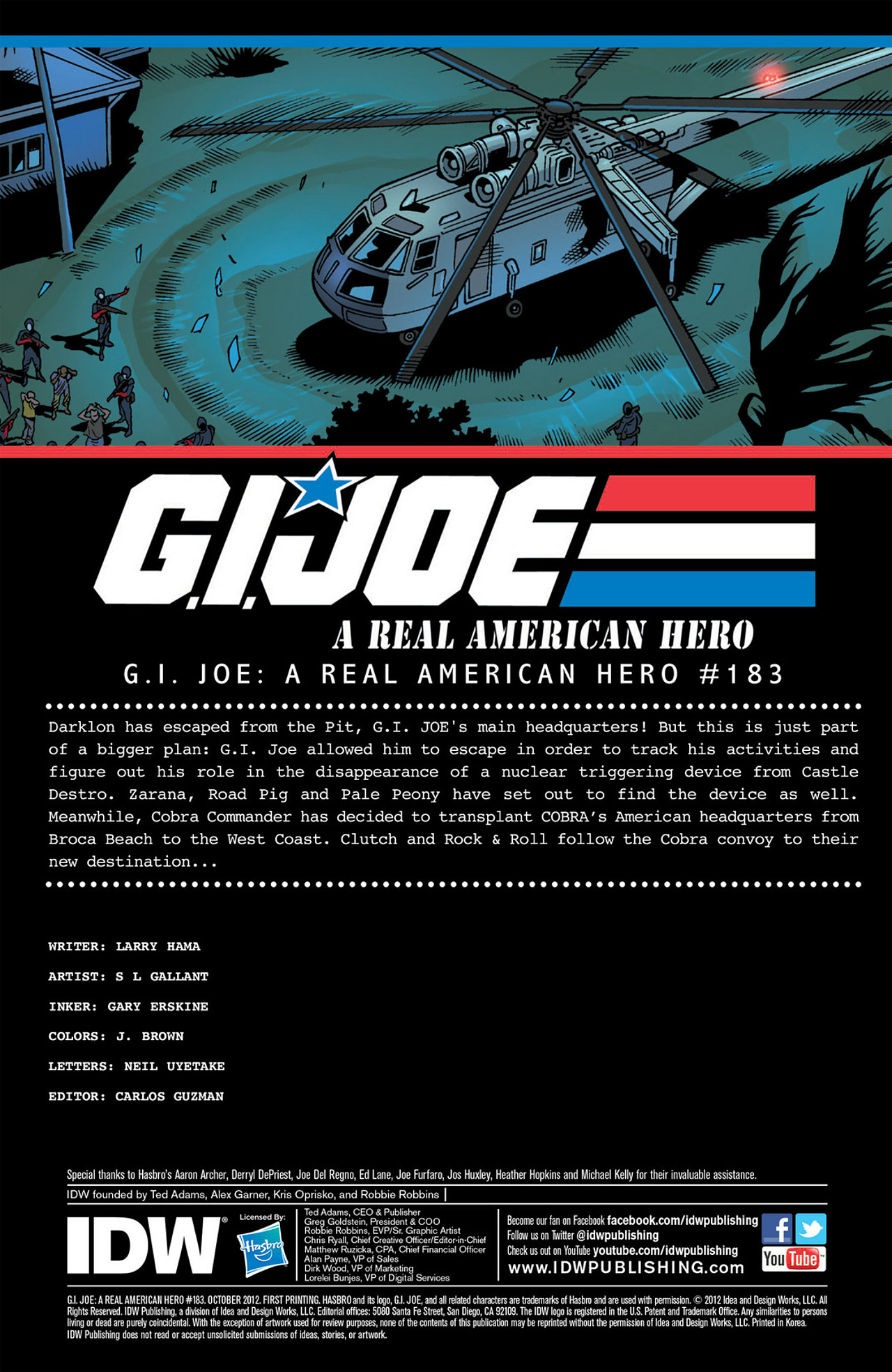G.I. Joe: A Real American Hero 183 Page 1