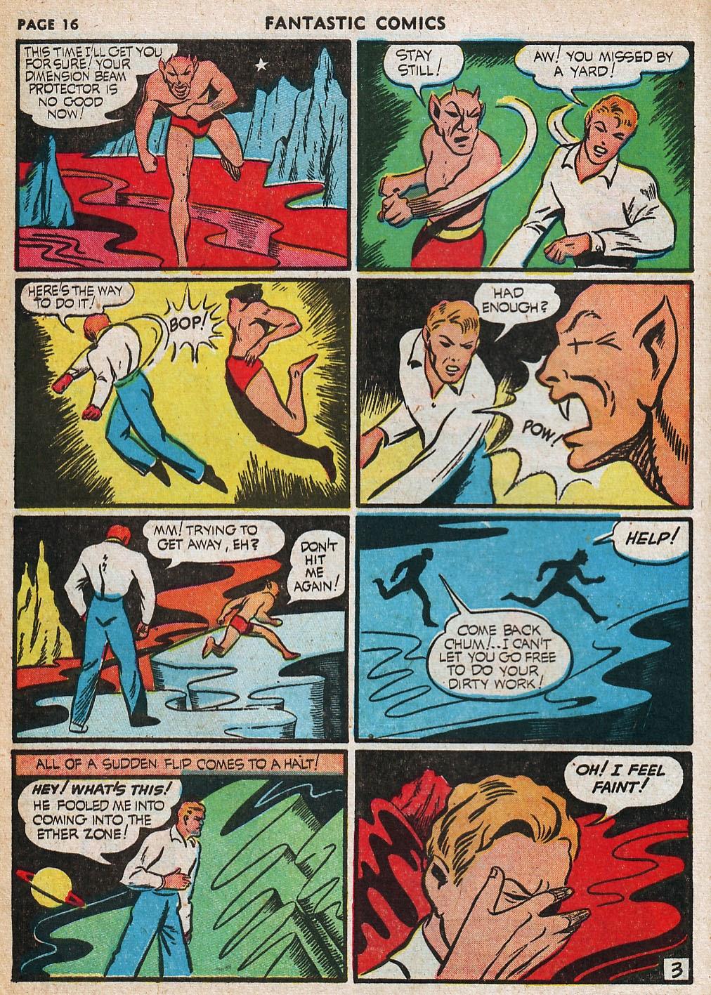 Read online Fantastic Comics comic -  Issue #20 - 17