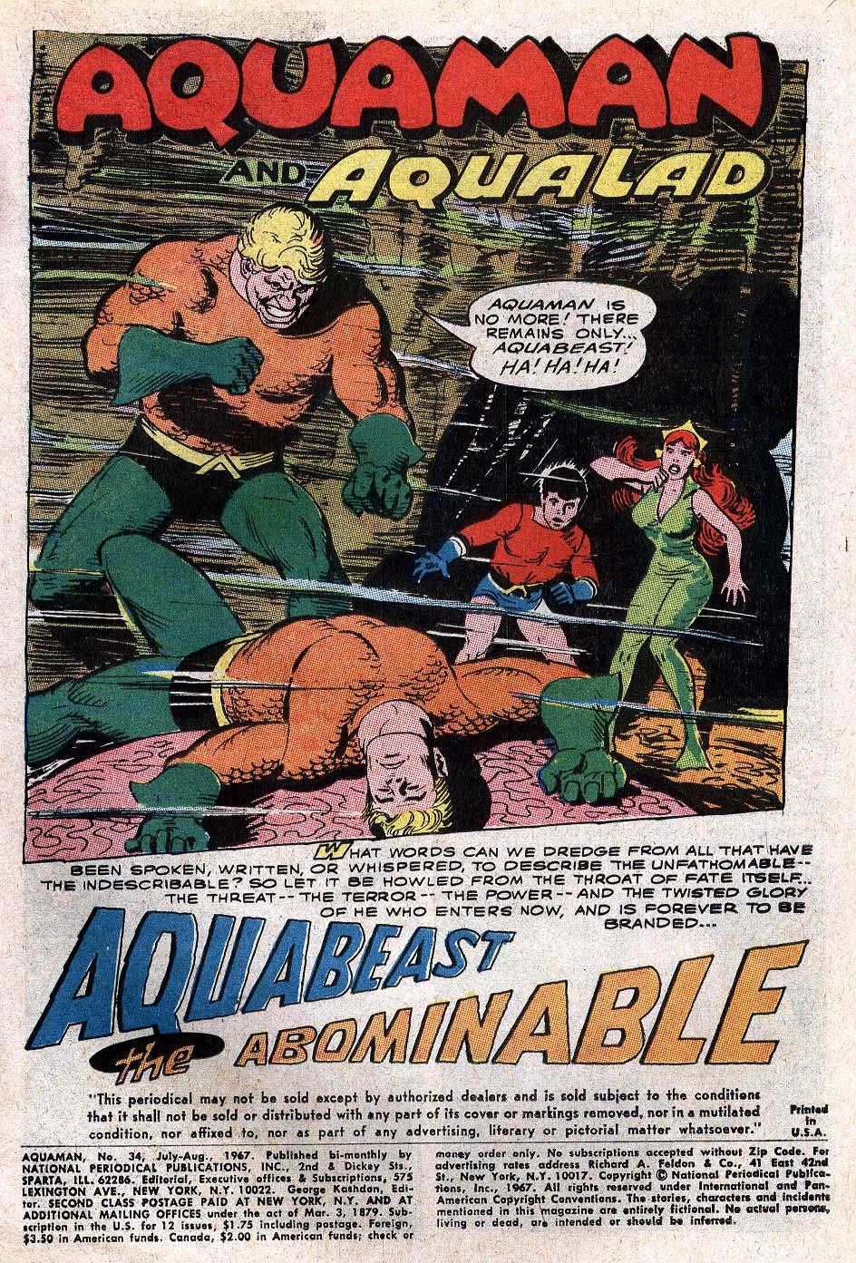 Read online Aquaman (1962) comic -  Issue #34 - 3