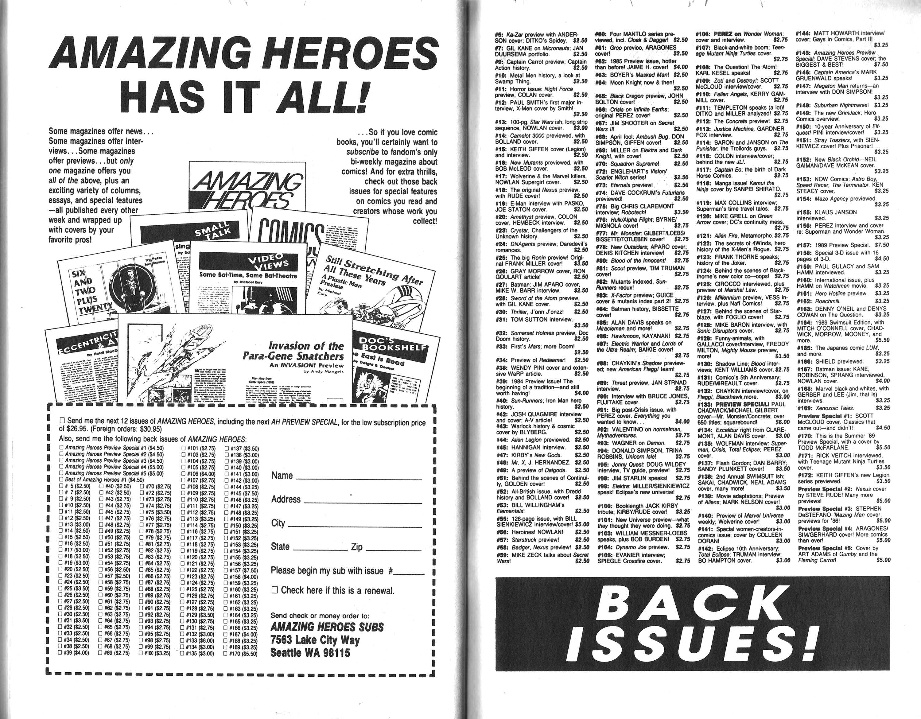 Read online Amazing Heroes comic -  Issue #170 - 73