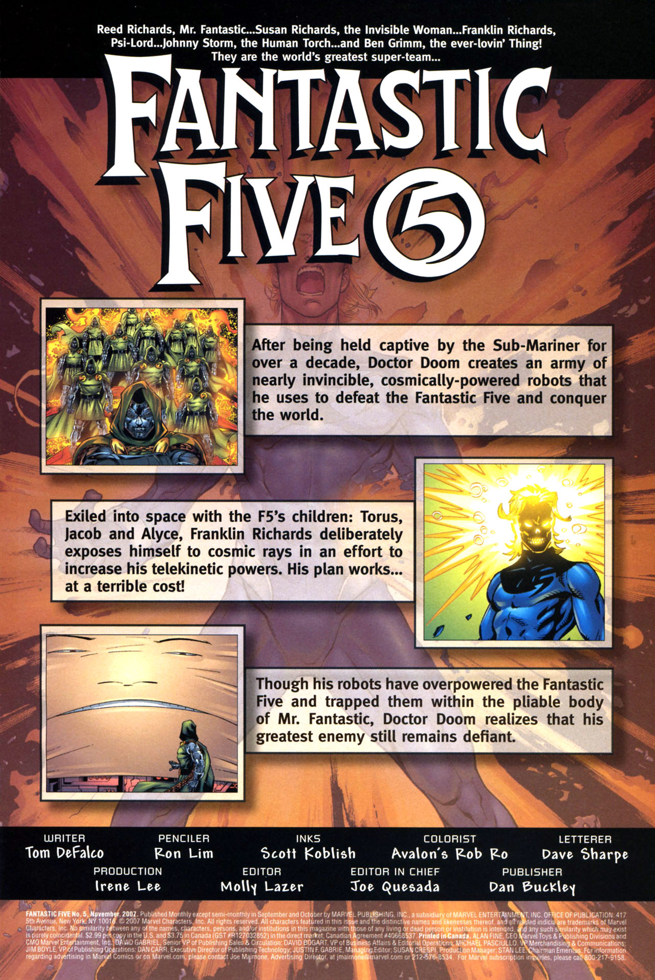 Read online Fantastic Five (2007) comic -  Issue #5 - 2