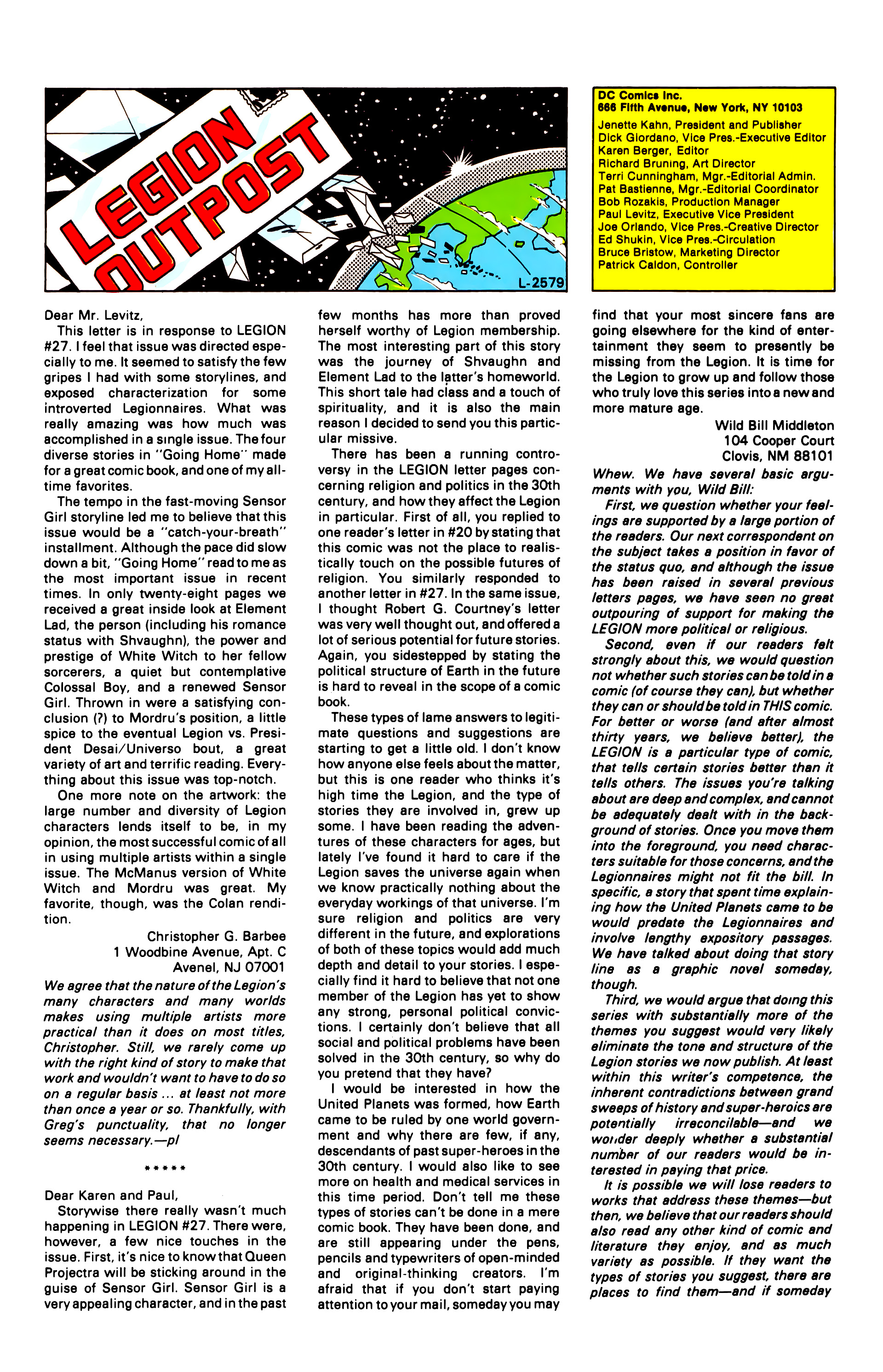 Legion of Super-Heroes (1984) 32 Page 28