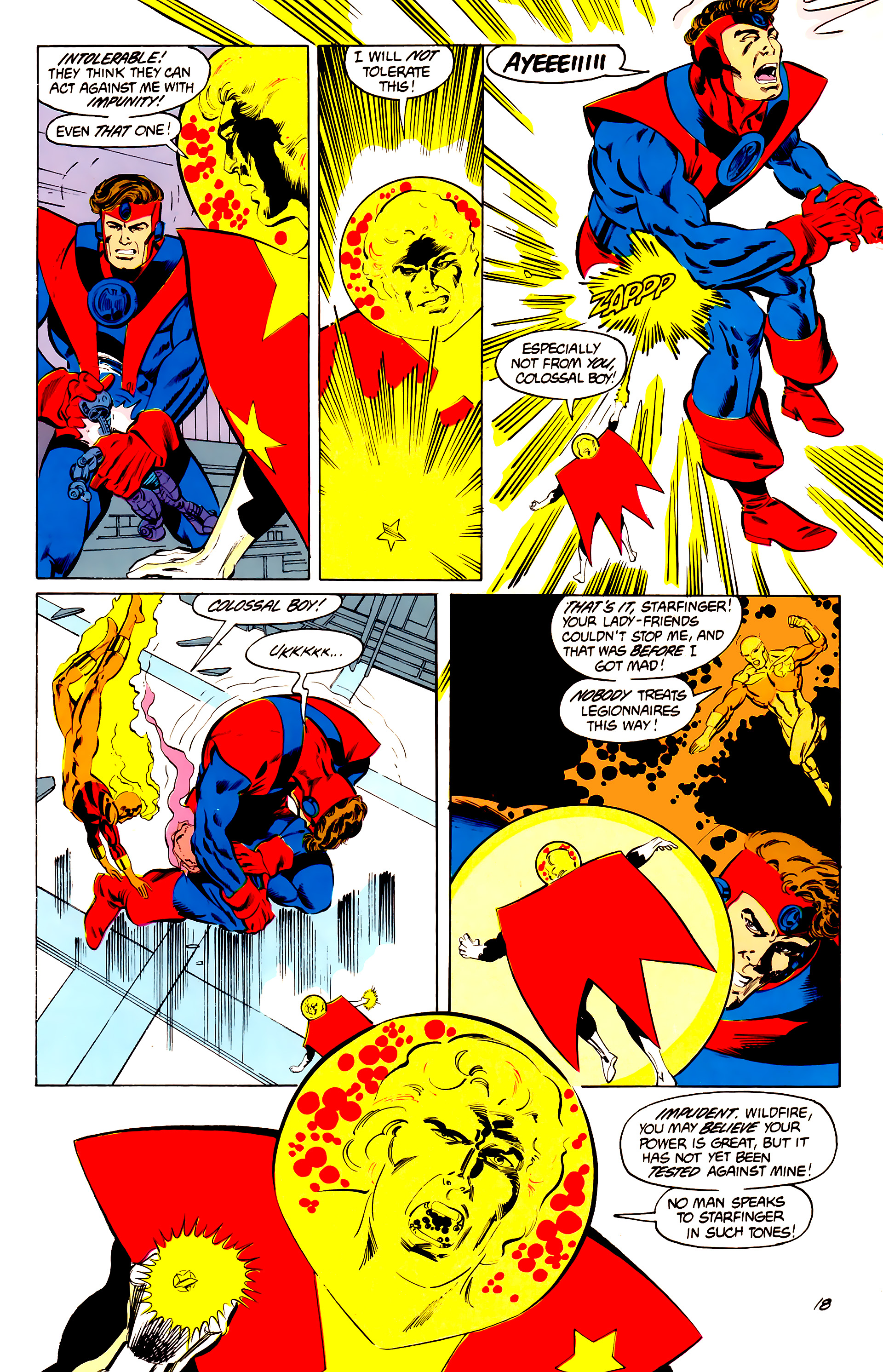 Legion of Super-Heroes (1984) 41 Page 18