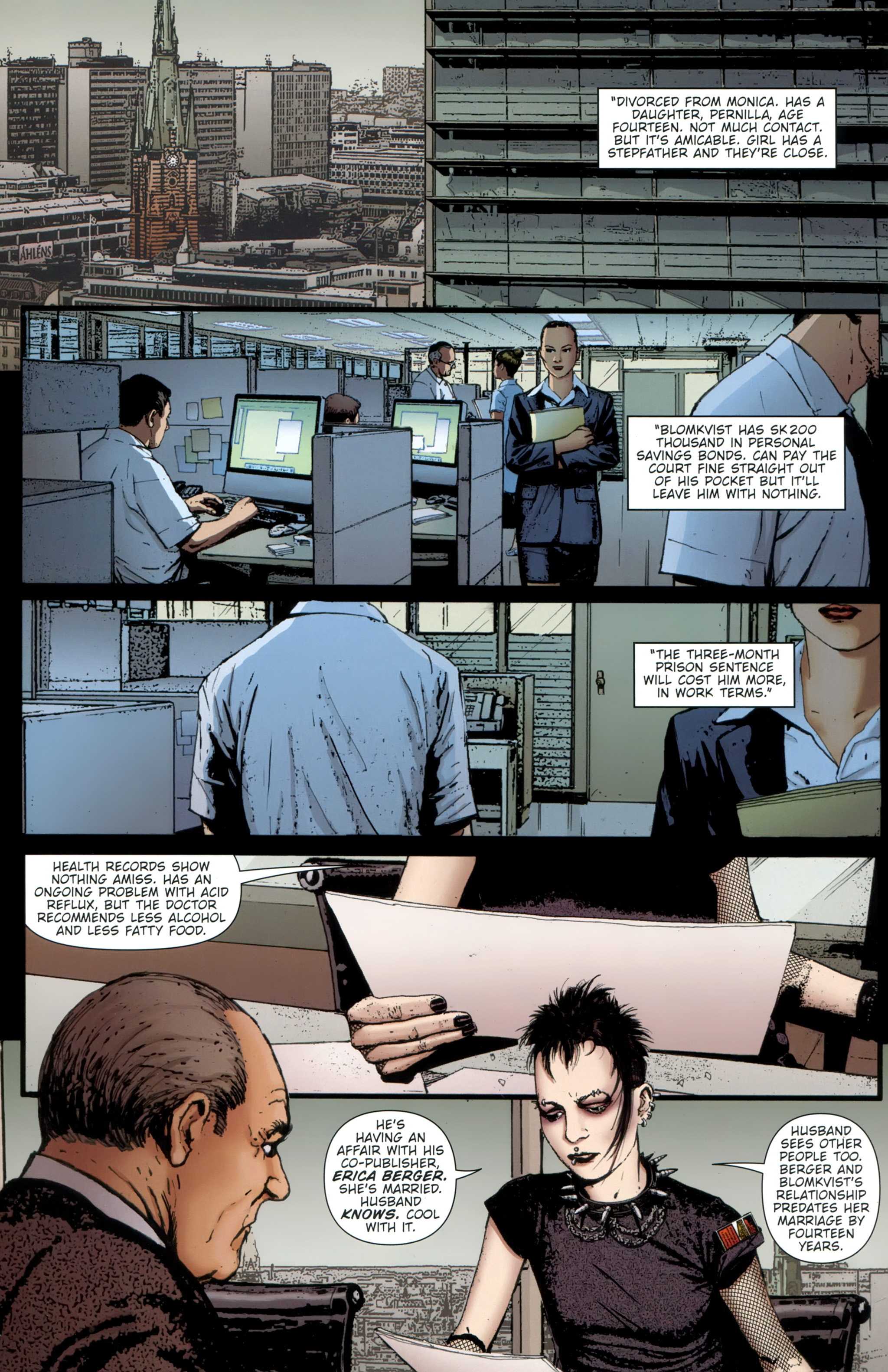 Read online The Girl With the Dragon Tattoo comic -  Issue # TPB 1 - 21