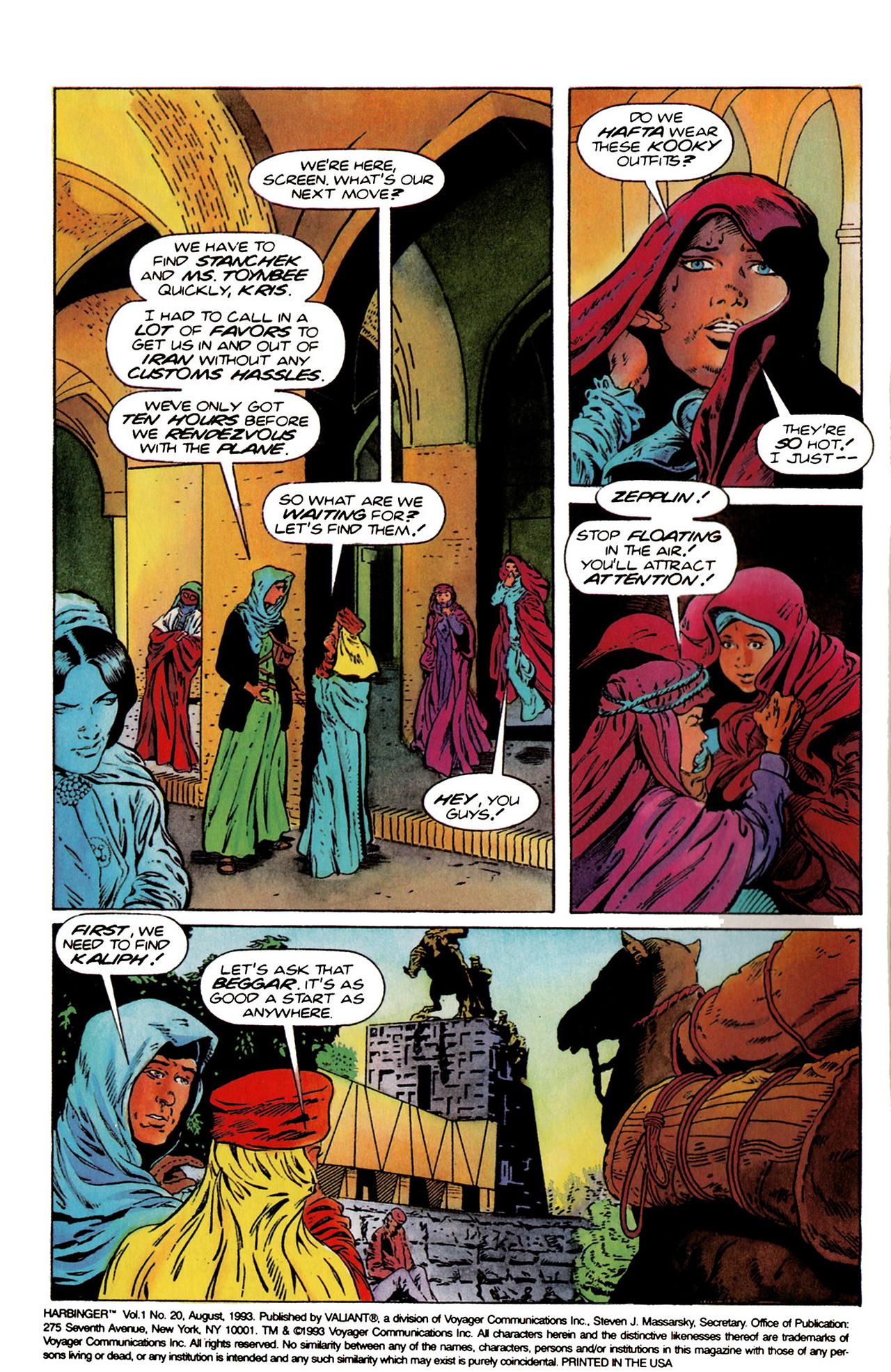 Read online Harbinger (1992) comic -  Issue #20 - 3