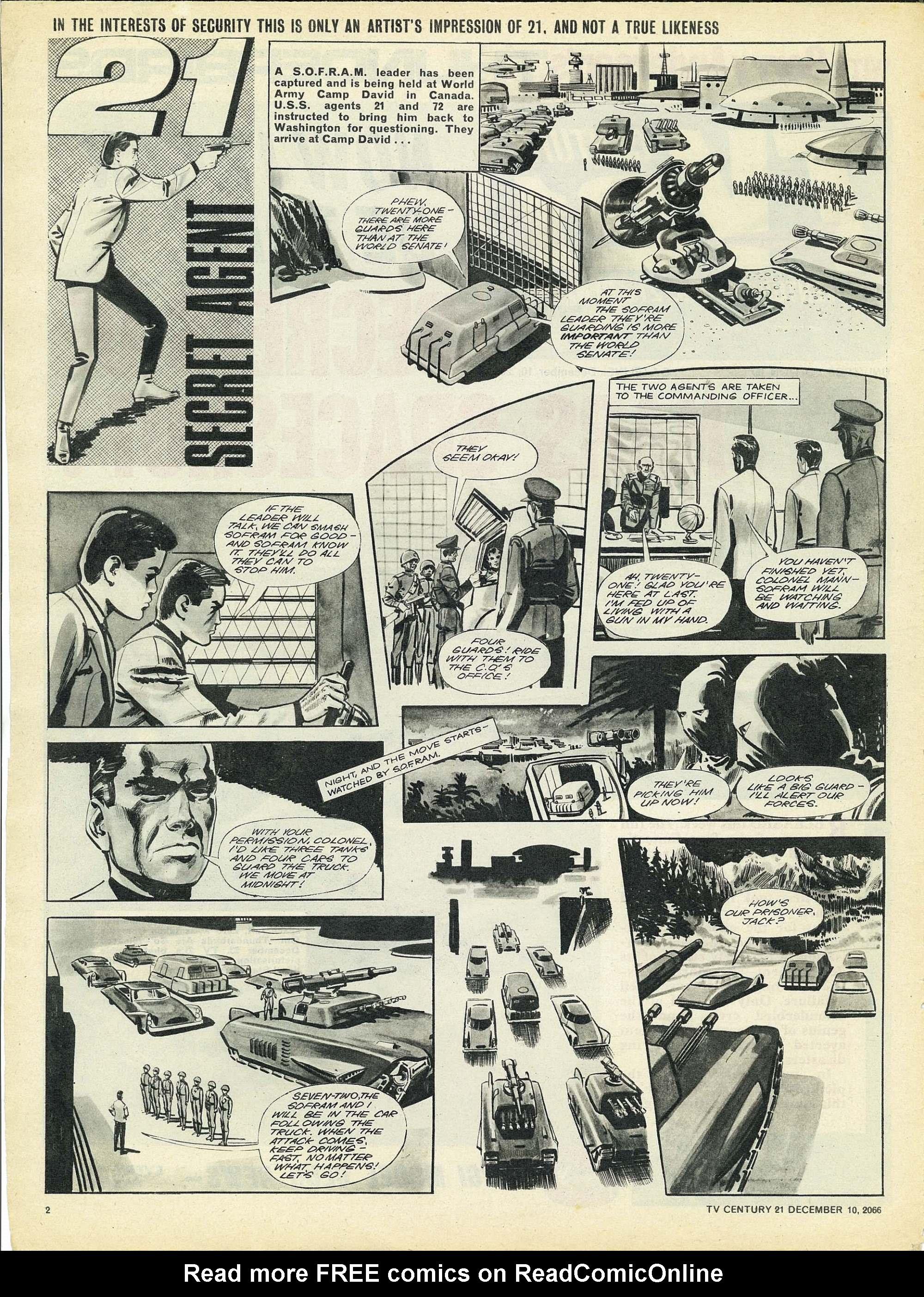 Read online TV Century 21 (TV 21) comic -  Issue #99 - 2