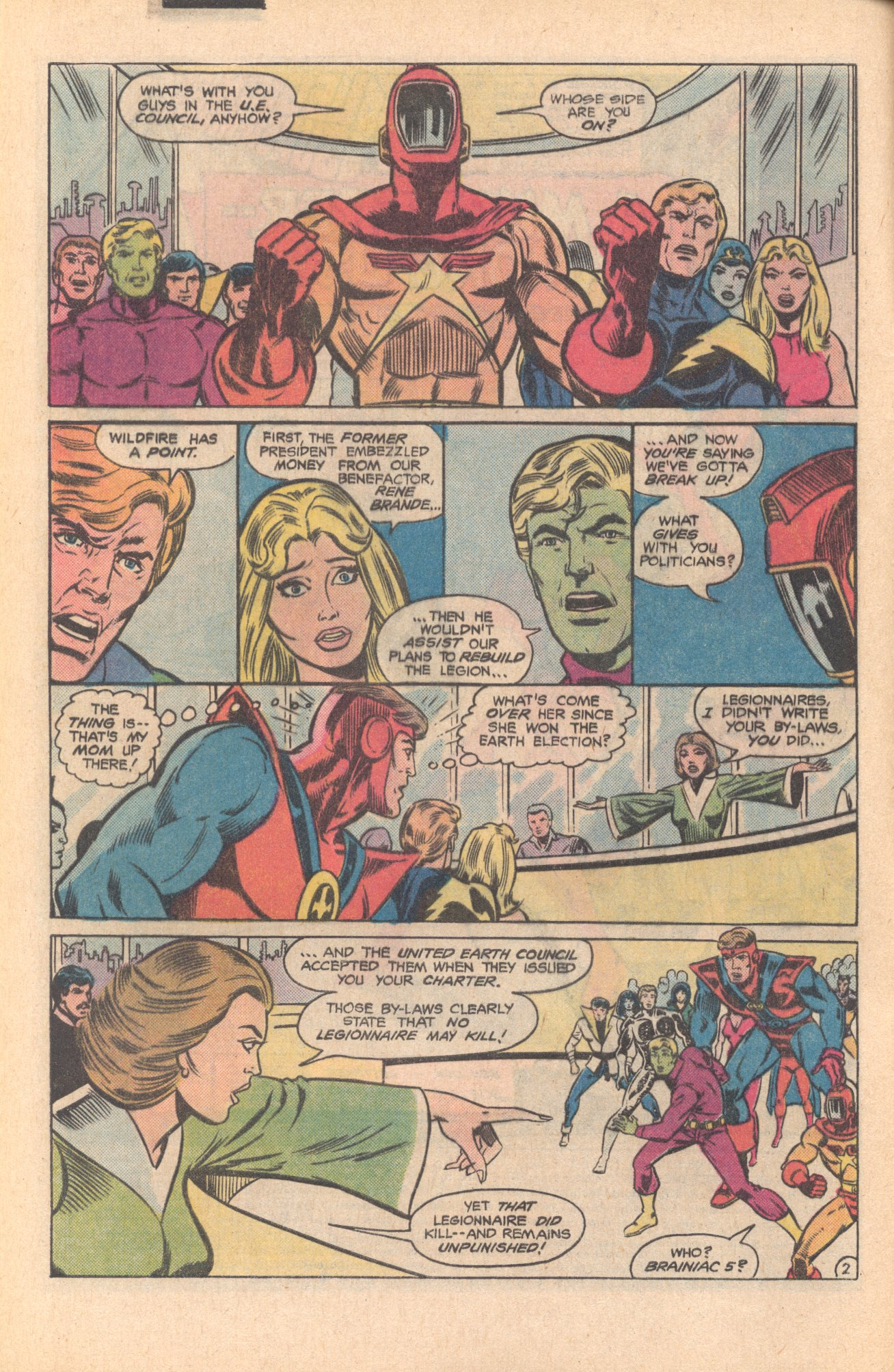 Legion of Super-Heroes (1980) 273 Page 2