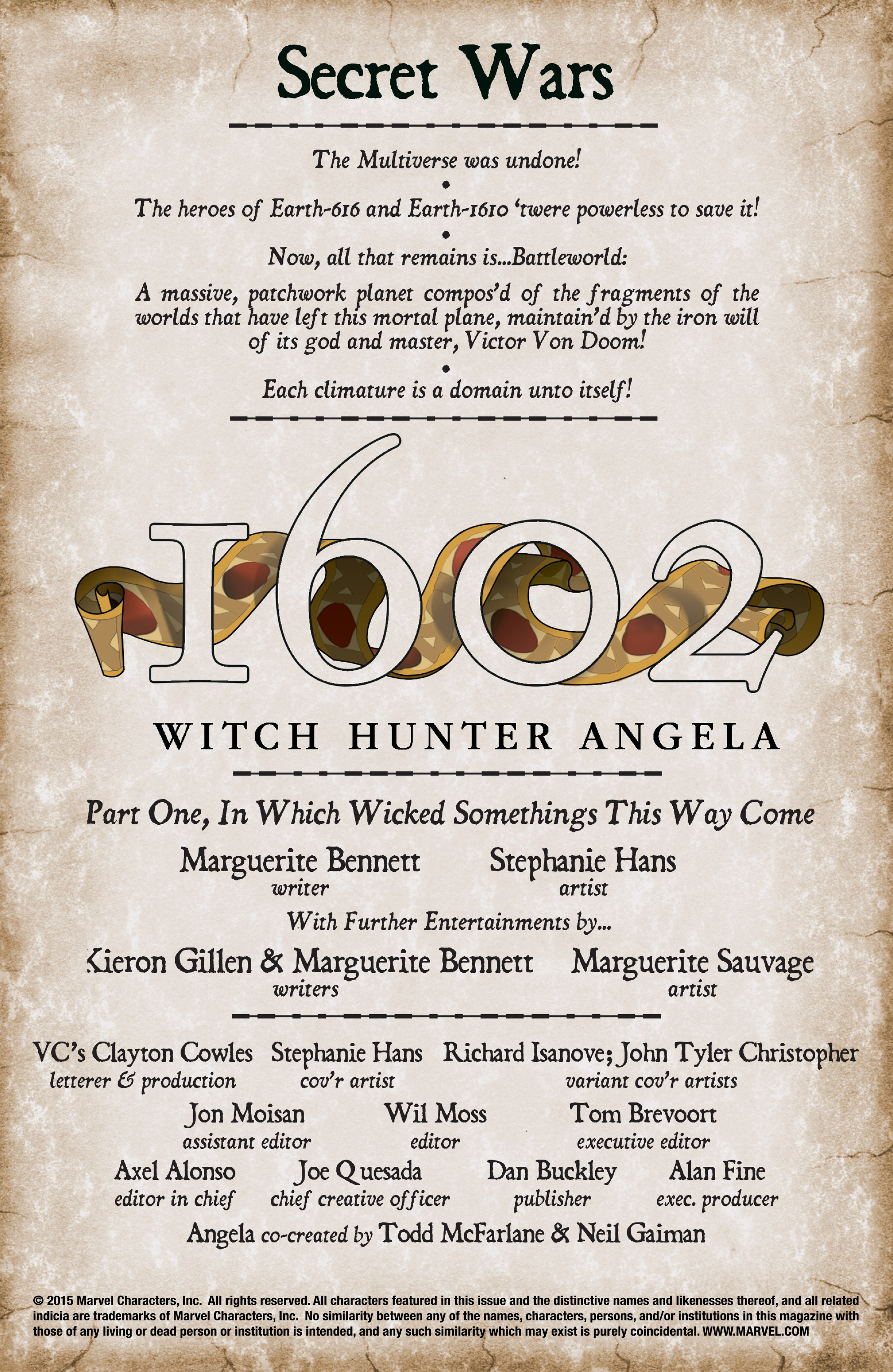 Read online 1602 Witch Hunter Angela comic -  Issue #1 - 3