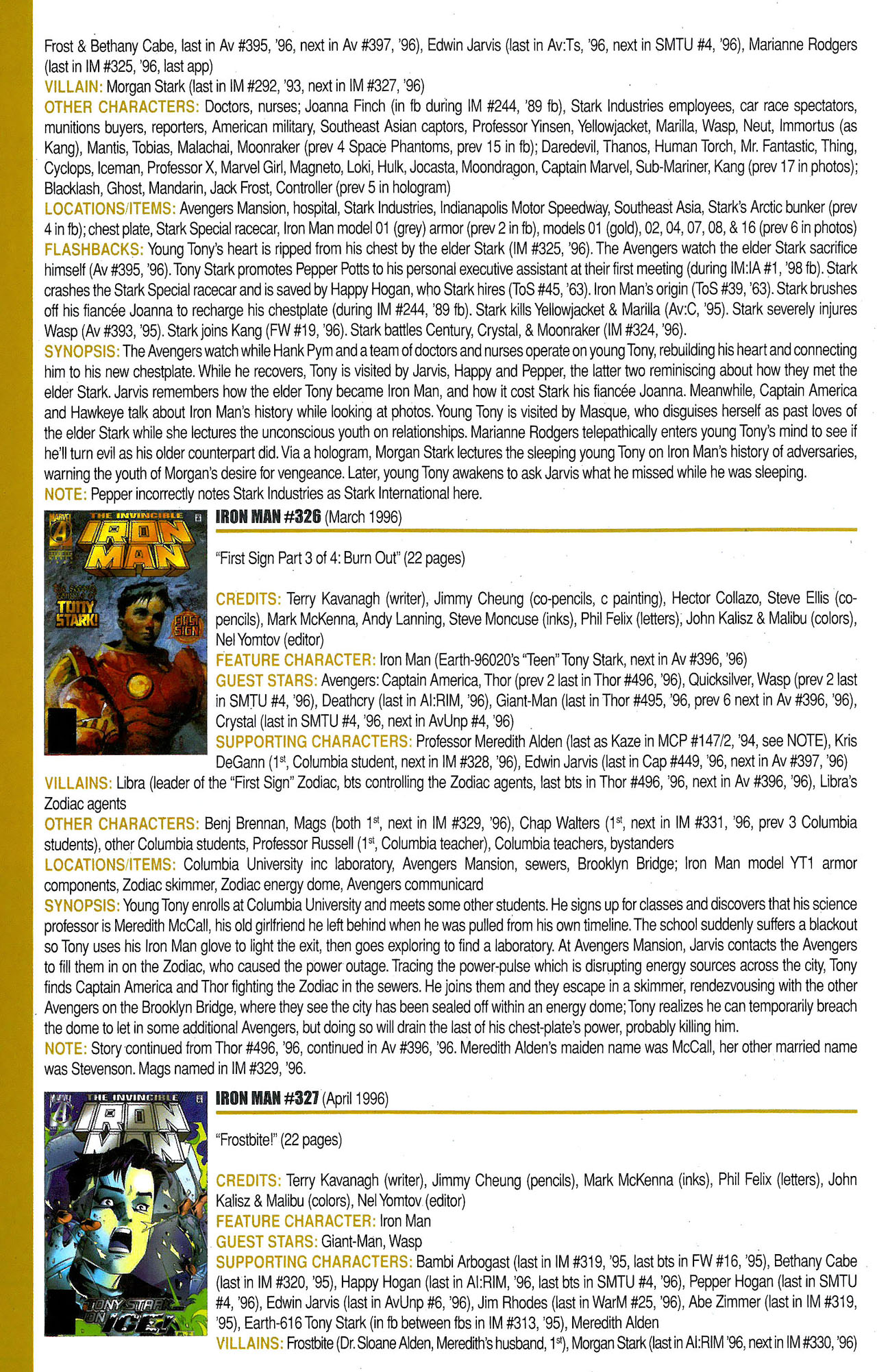 Read online Official Index to the Marvel Universe comic -  Issue #9 - 38